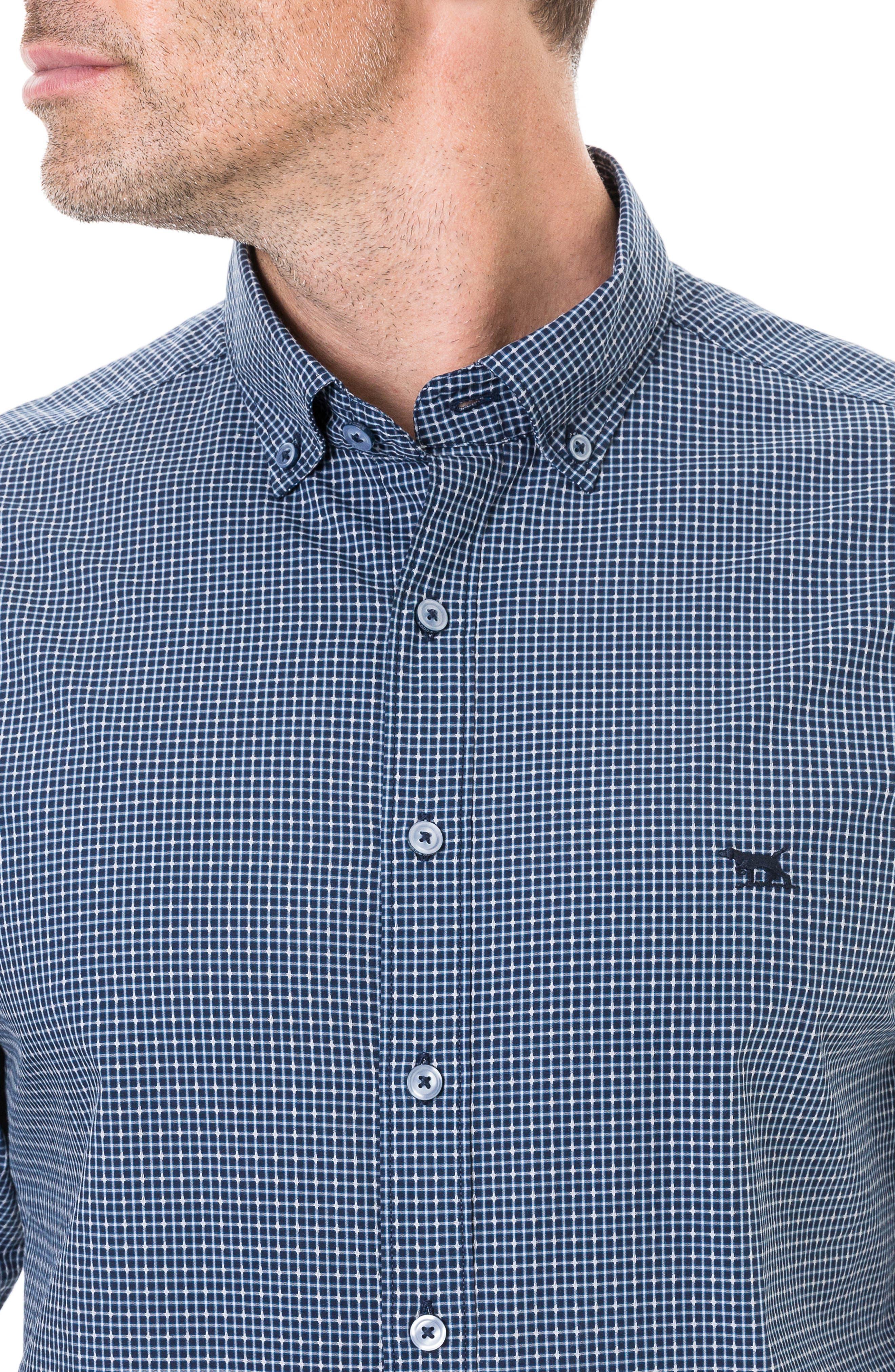 Wingrove Regular Fit Sport Shirt,                             Alternate thumbnail 5, color,                             MIDNIGHT