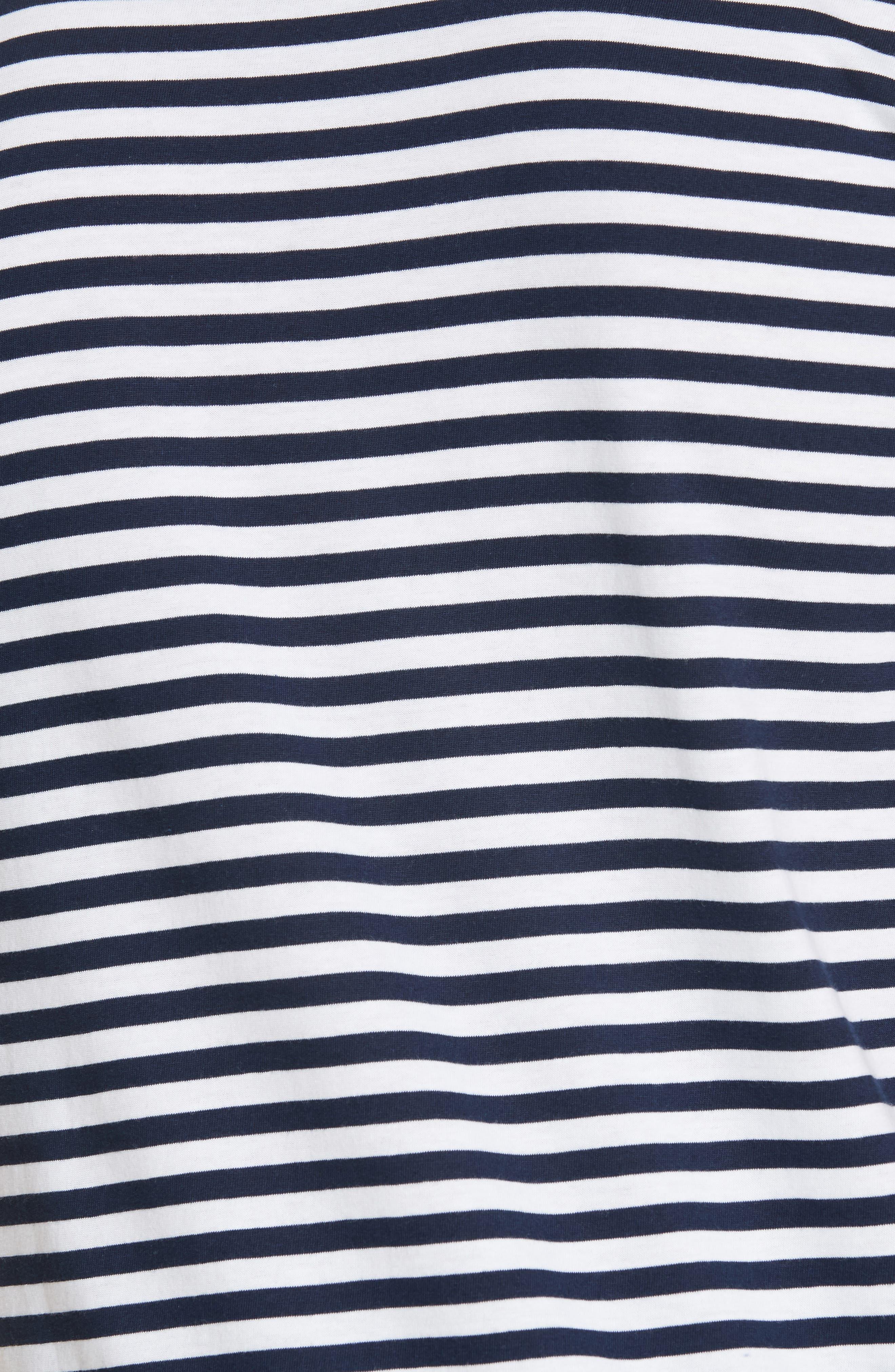 Norse Project Niels Classic Stripe T-Shirt,                             Alternate thumbnail 5, color,                             BLUE