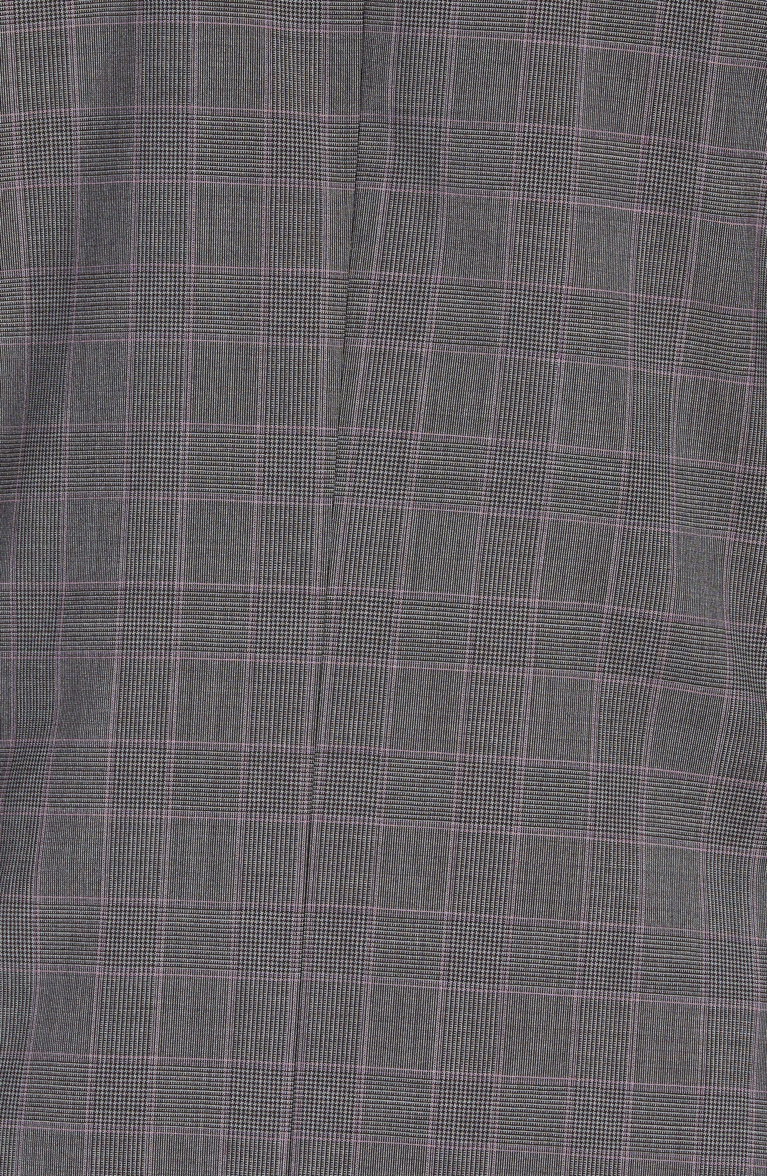 TED BAKER LONDON,                             Jay Trim Fit Plaid Wool Suit,                             Alternate thumbnail 7, color,                             GREY