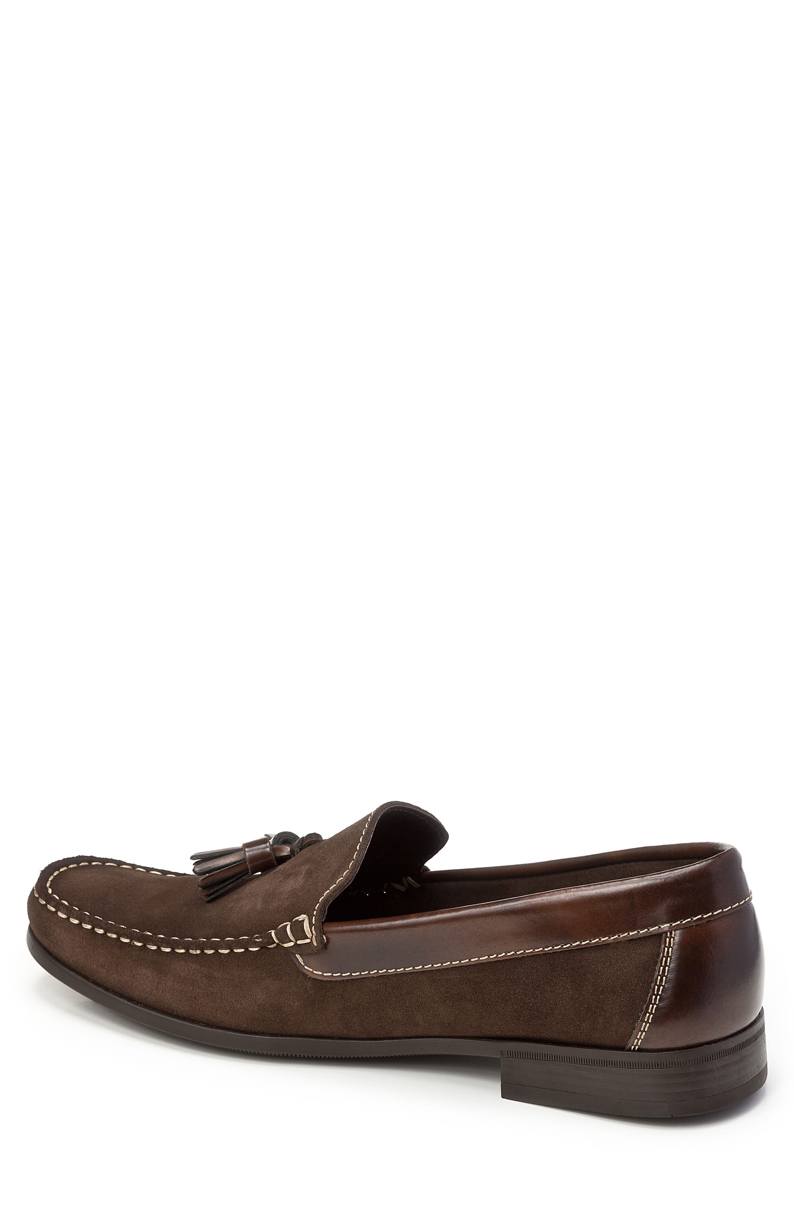 SANDRO MOSCOLONI,                             Hojas Tassel Loafer,                             Alternate thumbnail 2, color,                             BROWN LEATHER
