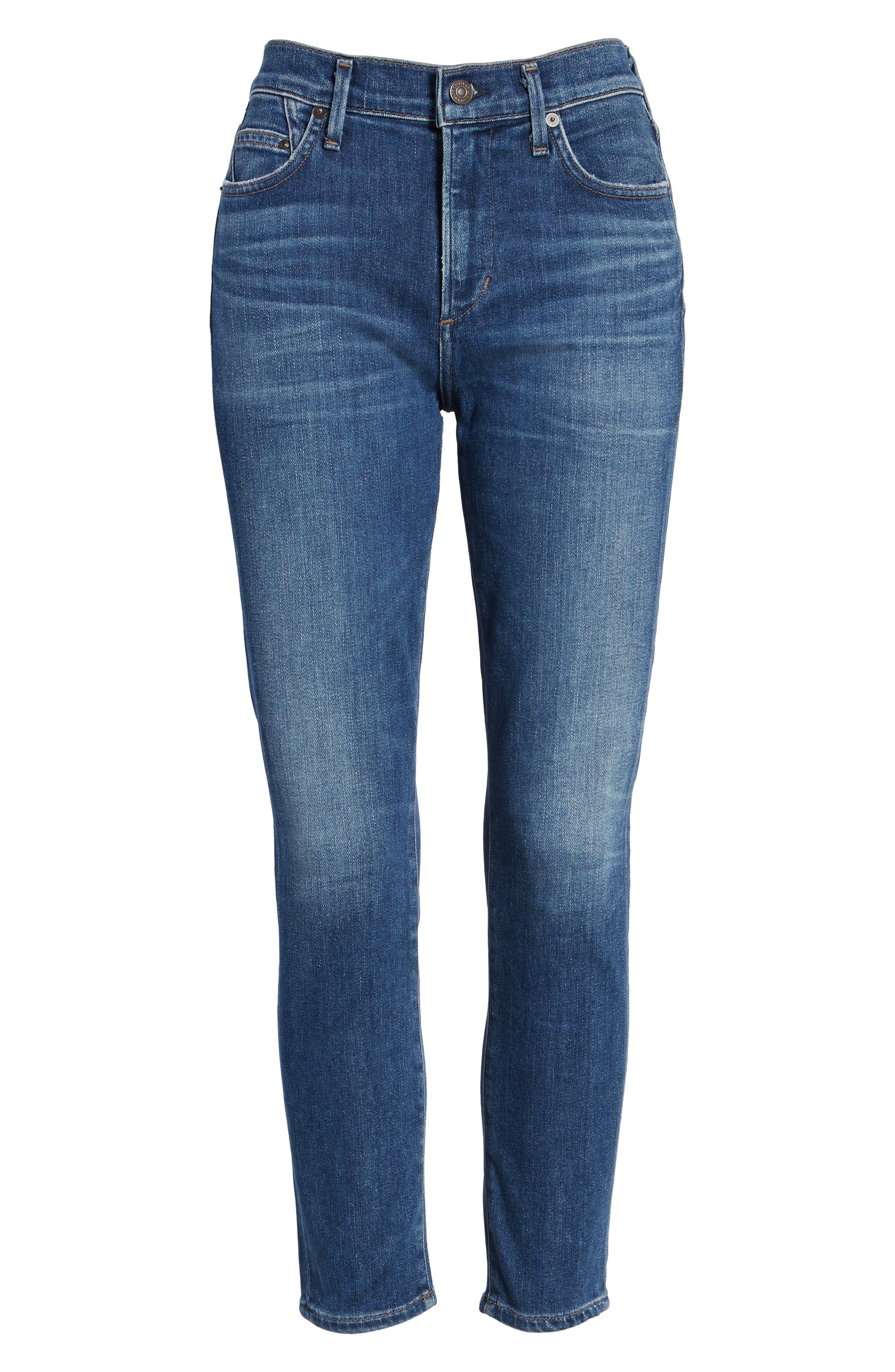 Rocket High Waist Crop Skinny Jeans,                             Alternate thumbnail 6, color,                             409