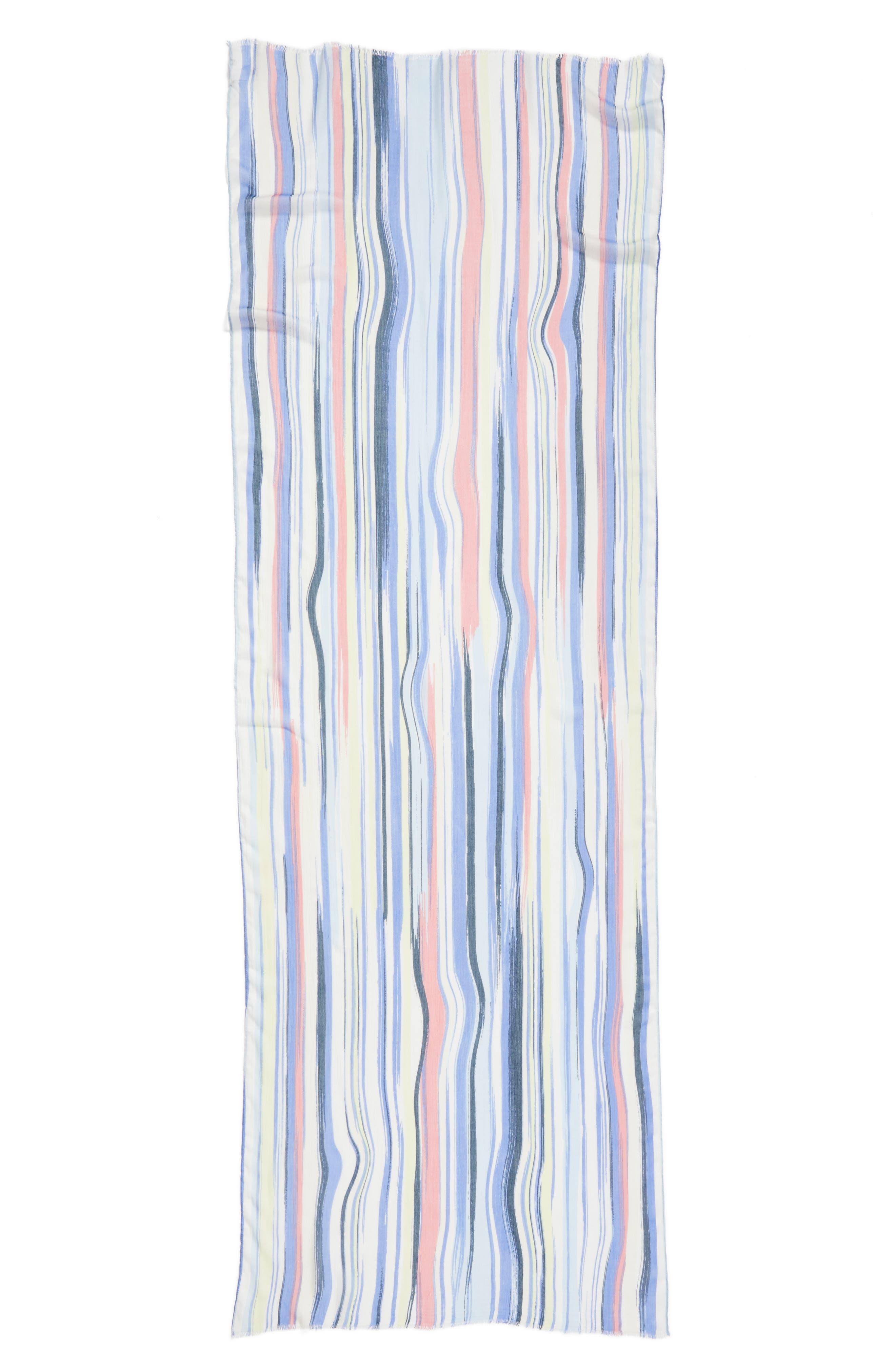 Painterly Wave Wrap,                             Alternate thumbnail 2, color,                             420