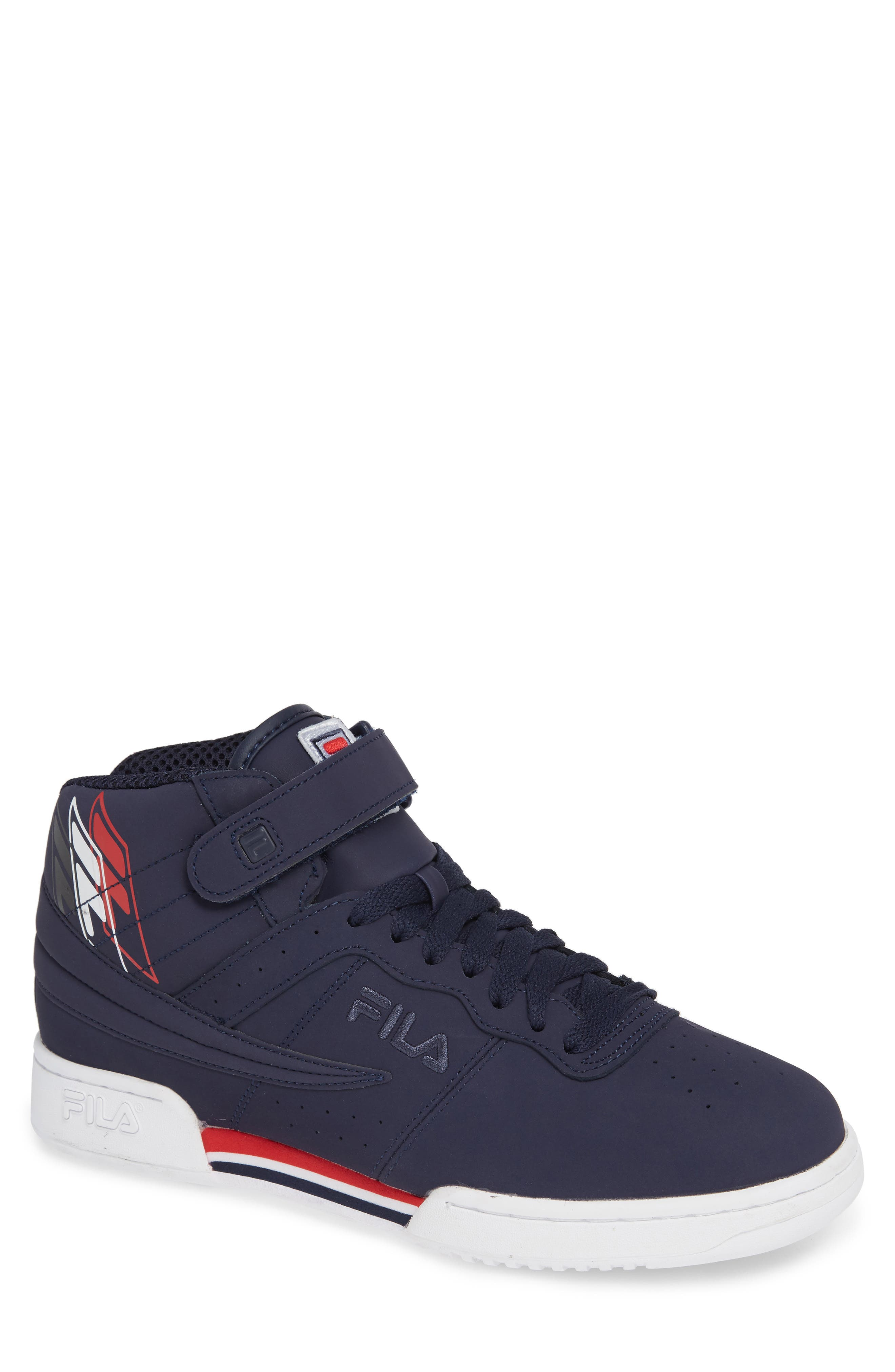 F-13 F-Box Sneaker,                             Main thumbnail 1, color,                             NAVY/ WHITE/ RED