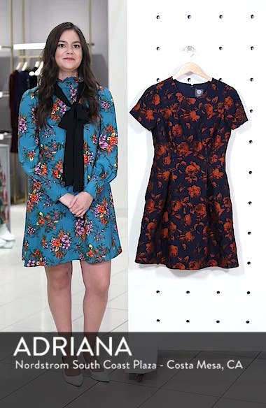 Jacquard Fit & Flare Dress, sales video thumbnail