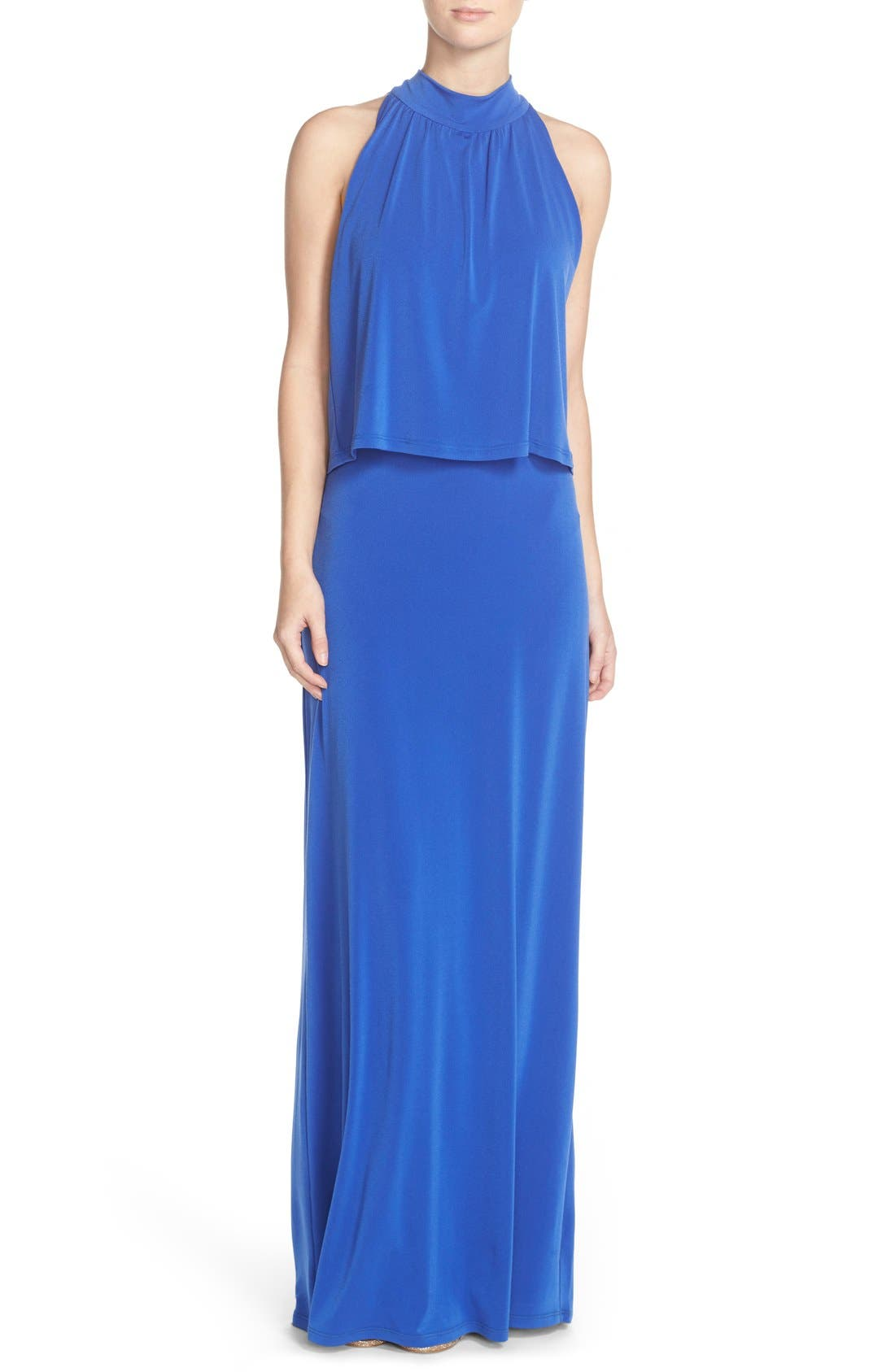 'Syler' Popover Jersey Maxi Dress,                             Main thumbnail 2, color,