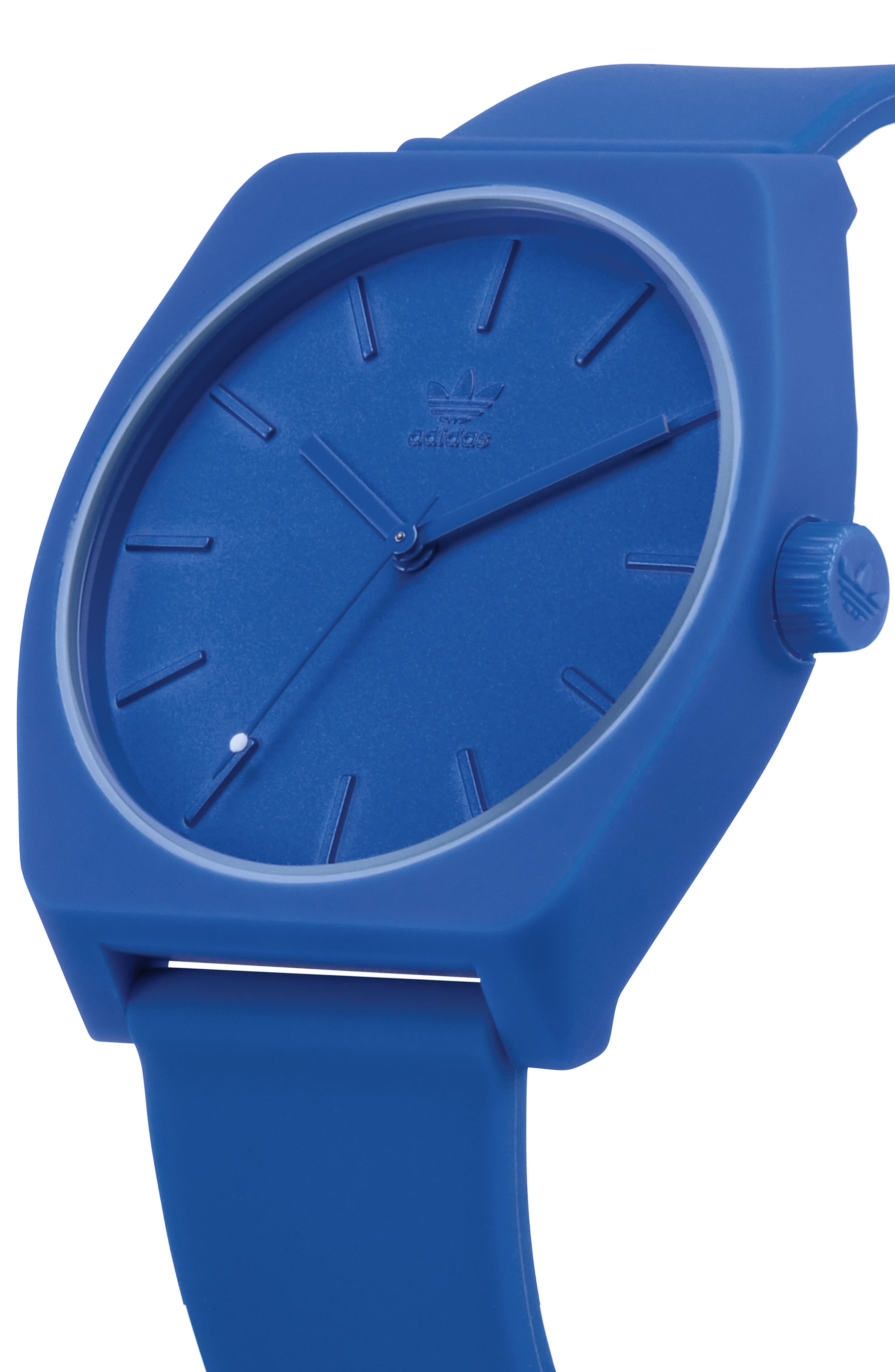 Process Silicone Strap Watch, 38mm,                             Alternate thumbnail 4, color,                             BLUE