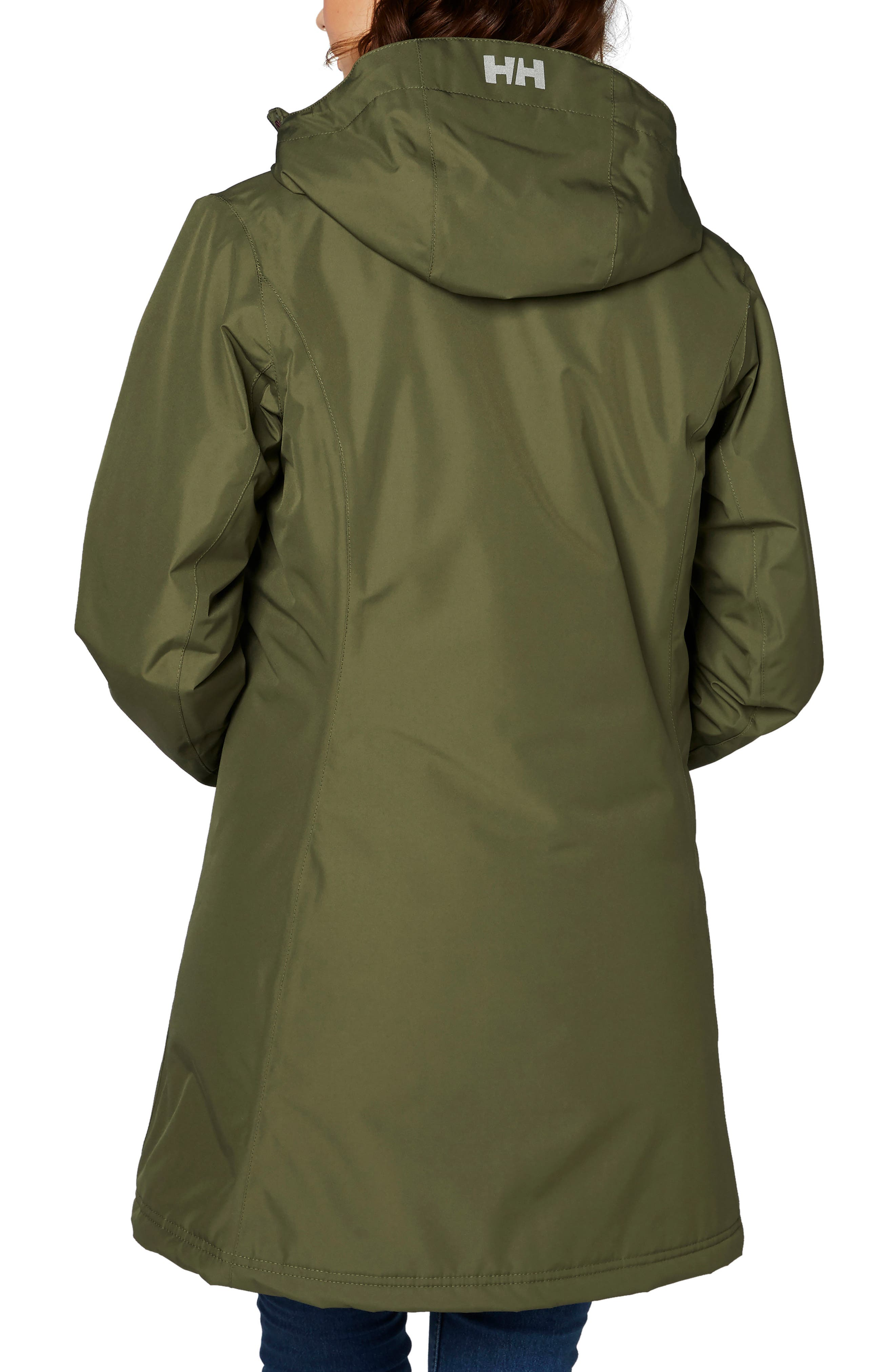 HELLY HANSEN,                             'Belfast' Long Waterproof Winter Rain Jacket,                             Alternate thumbnail 2, color,                             391