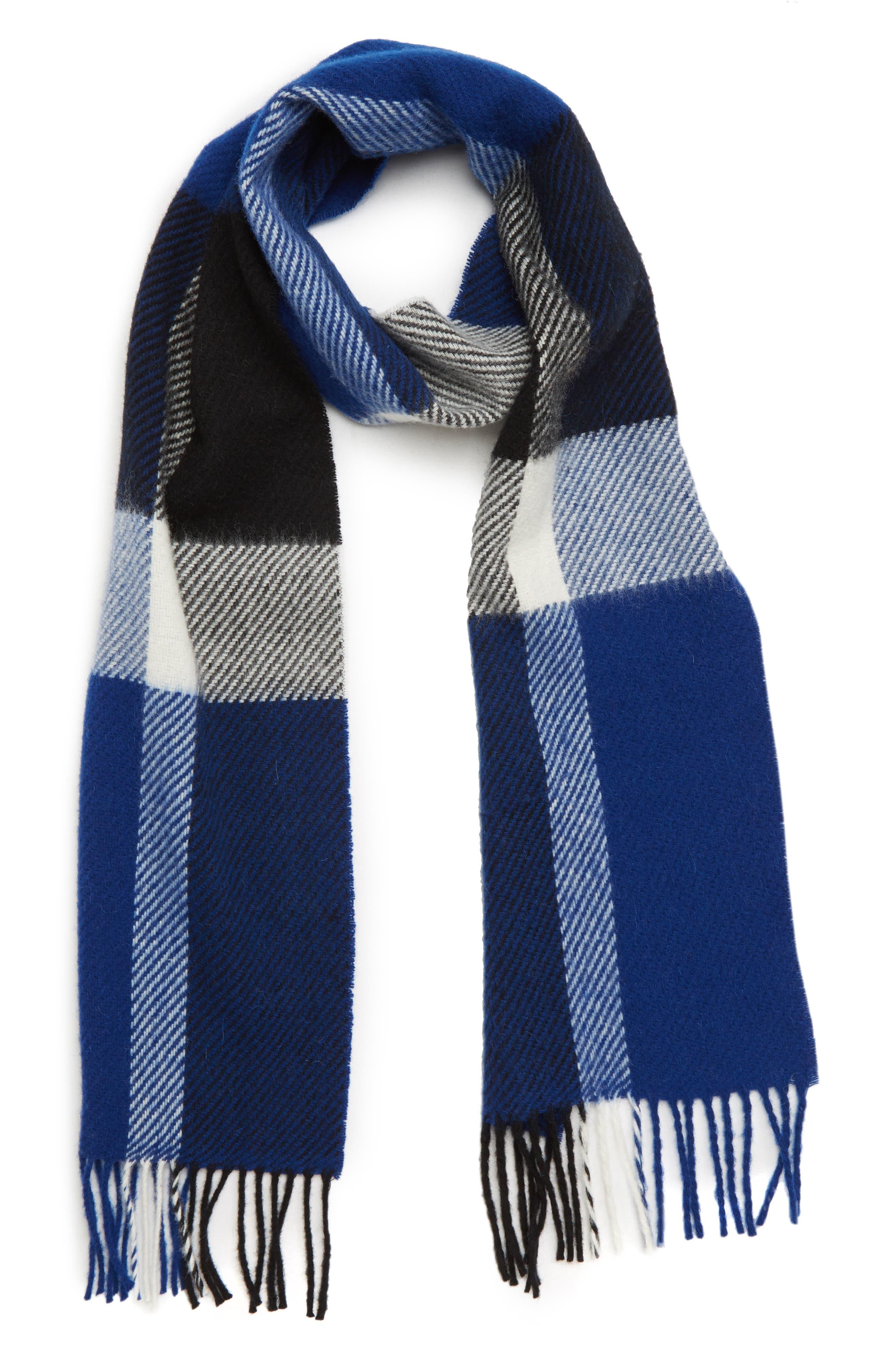 Oakwell Wool Scarf,                         Main,                         color, BLUE/ BLACK