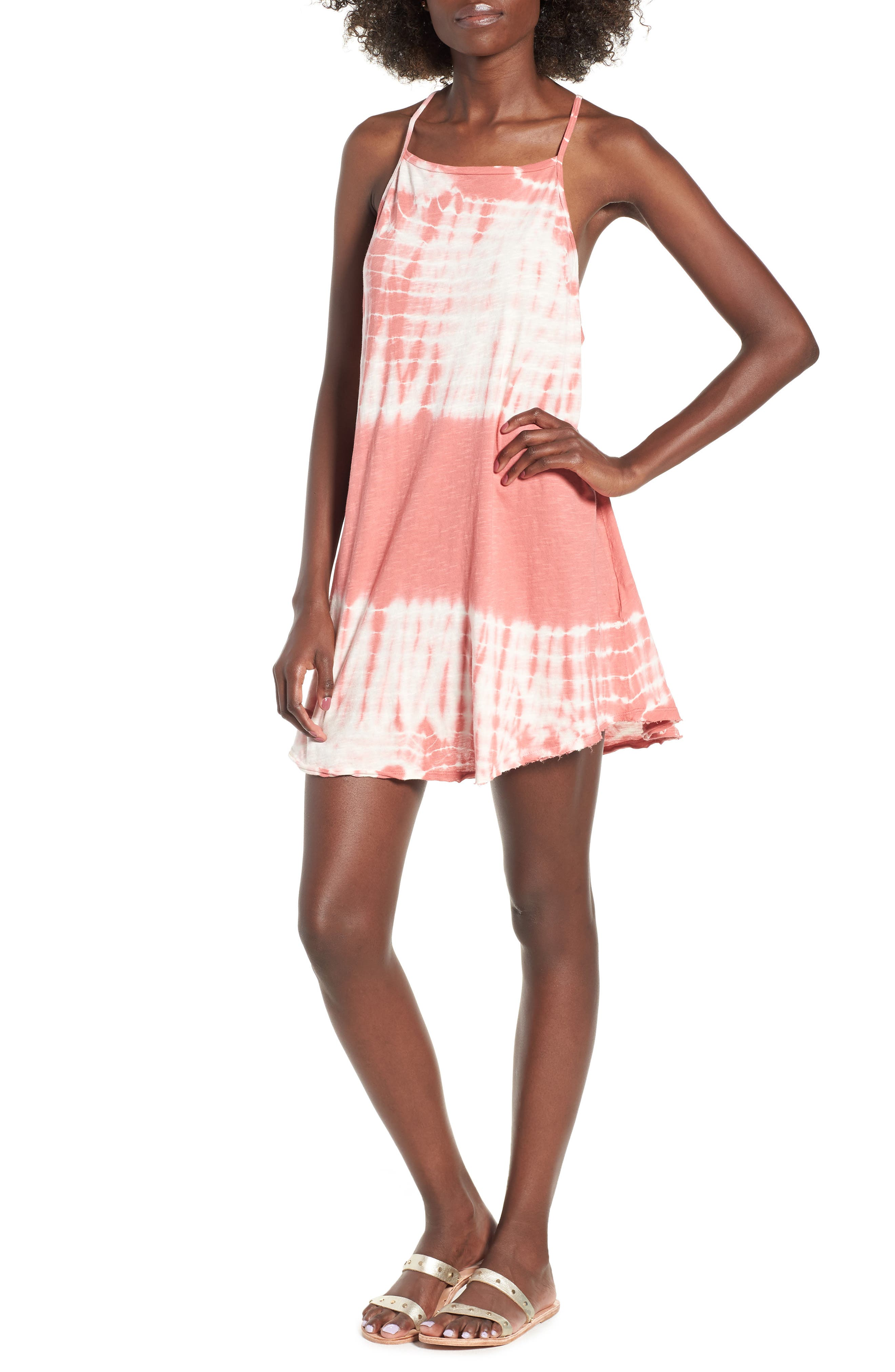 Turn Away Tie Dye Dress,                             Main thumbnail 1, color,                             SUNBURNT