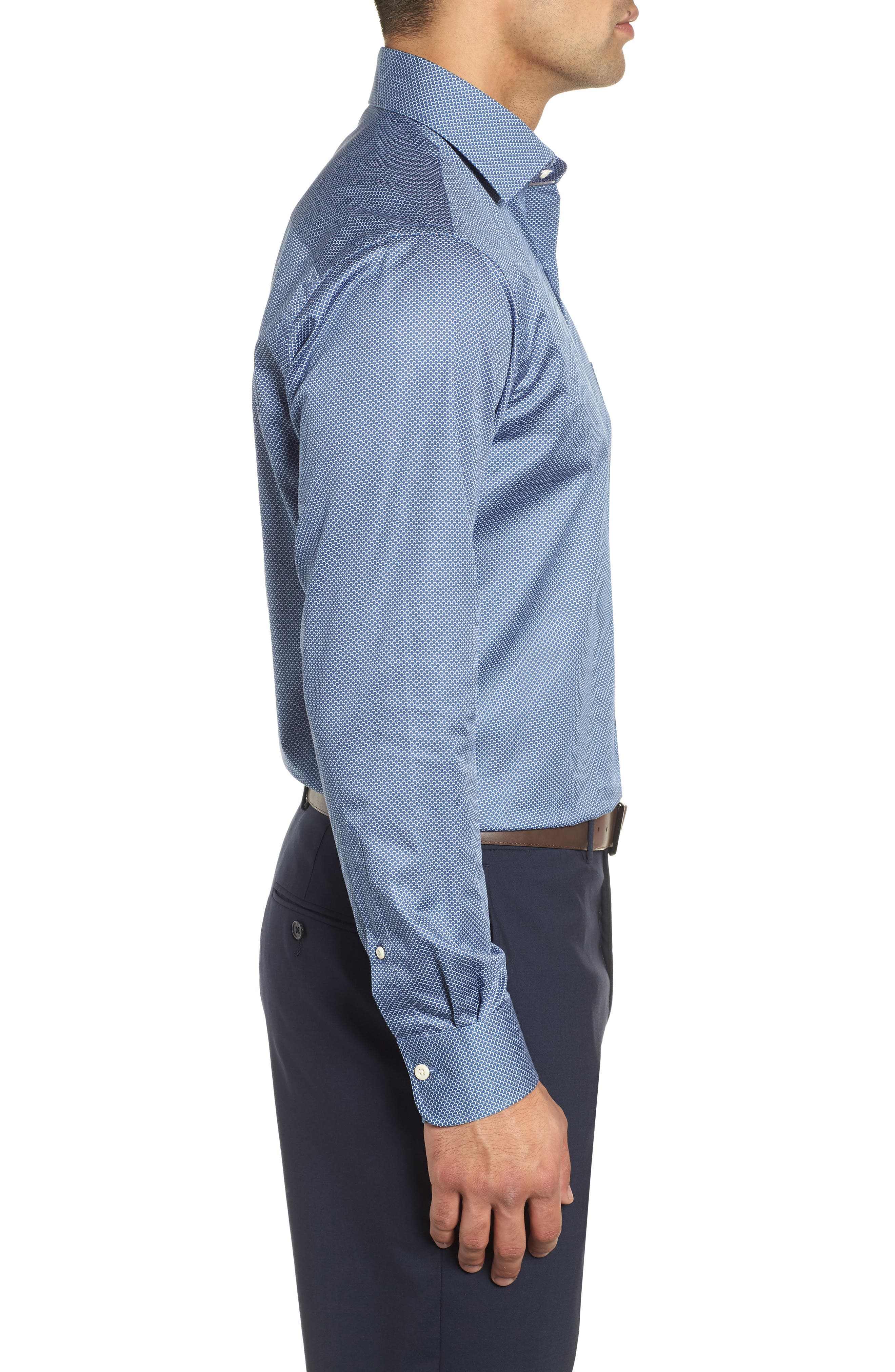 Off the Scale Sport Shirt,                             Alternate thumbnail 4, color,                             YANKEE BLUE