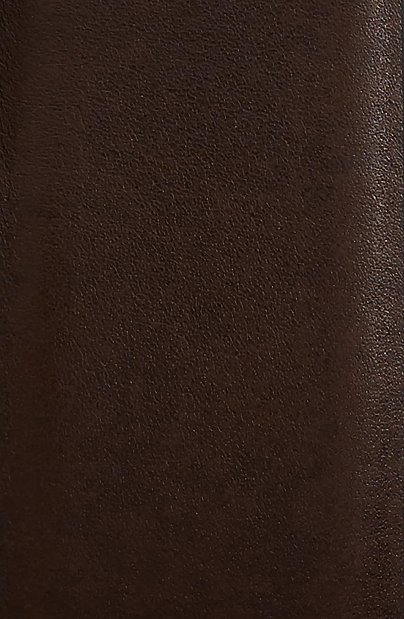 Reversible Leather Belt,                             Alternate thumbnail 3, color,                             BLACK