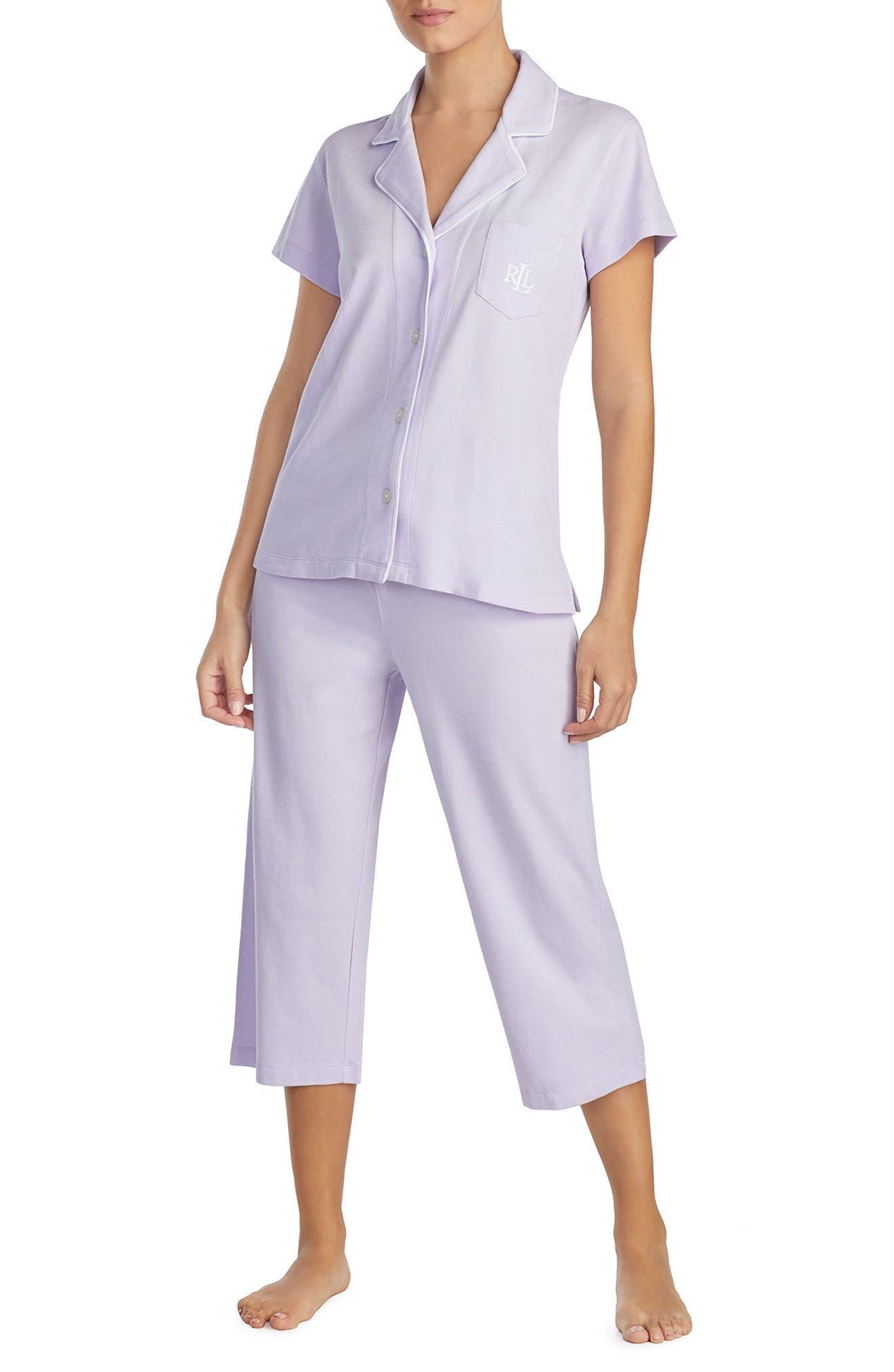 Knit Capri Pajamas,                         Main,                         color,