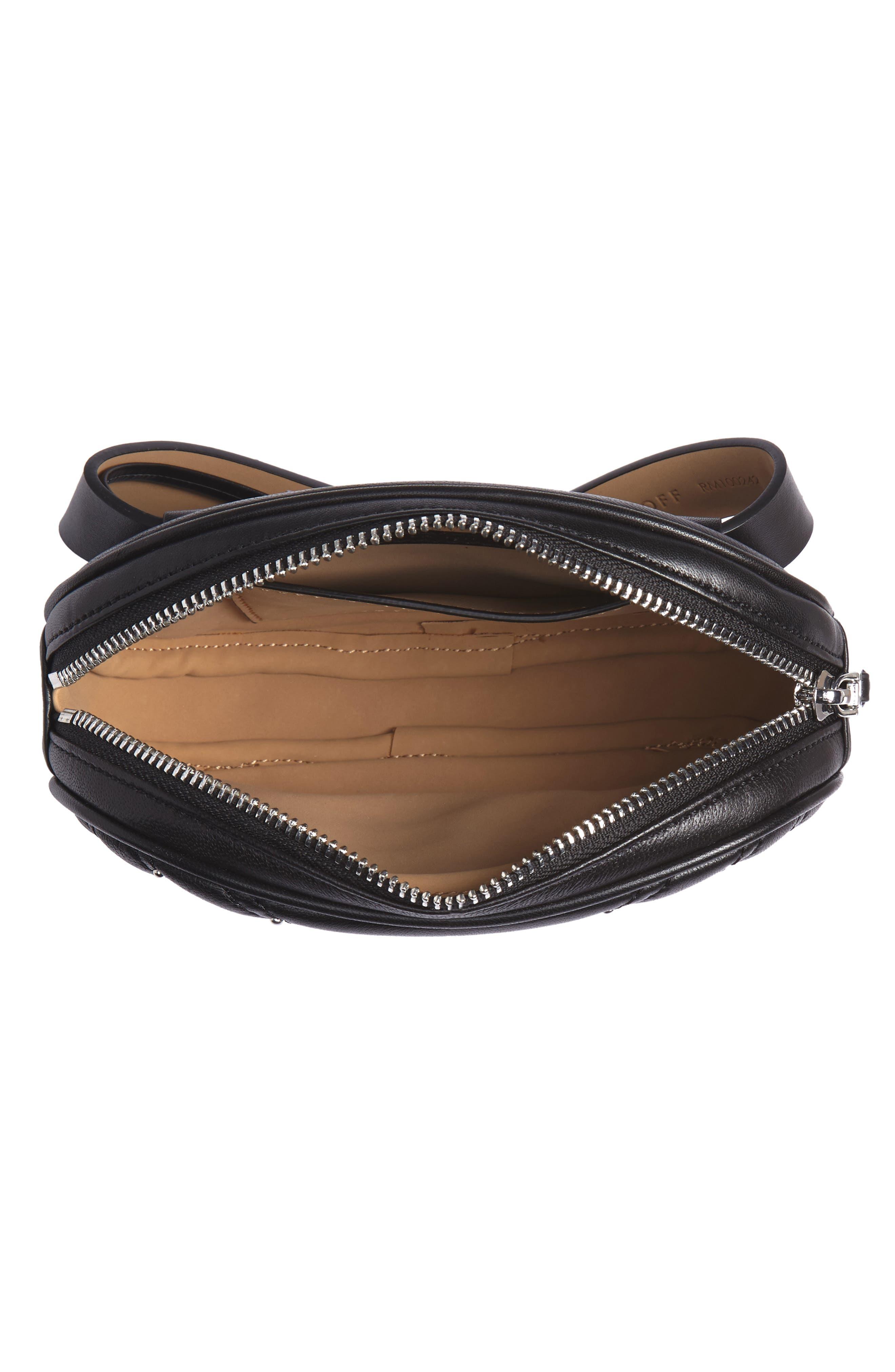 Montse Quilted Leather Belt Beg,                             Alternate thumbnail 5, color,                             BLACK