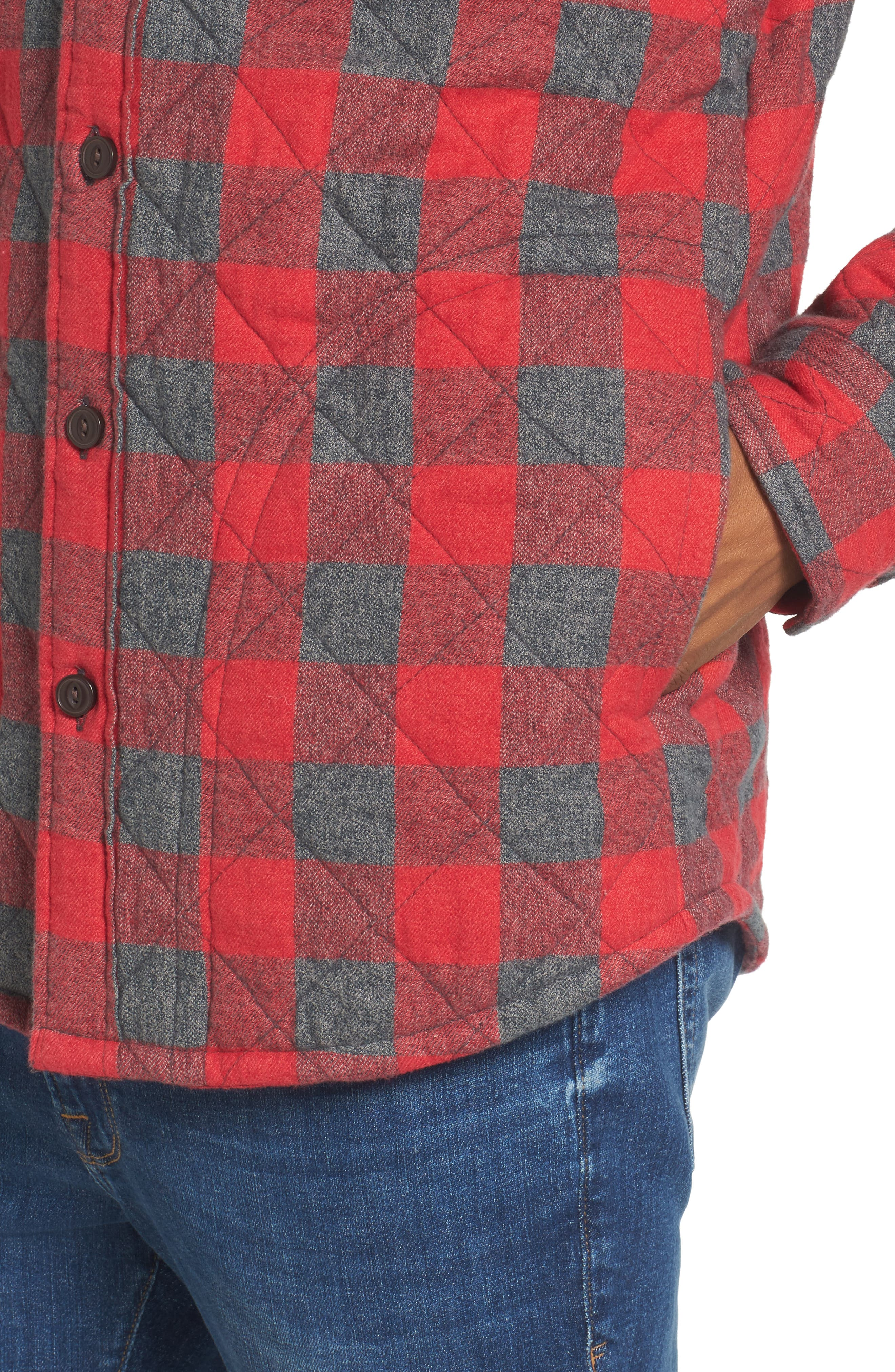 Quilted Shirt Jacket,                             Alternate thumbnail 8, color,