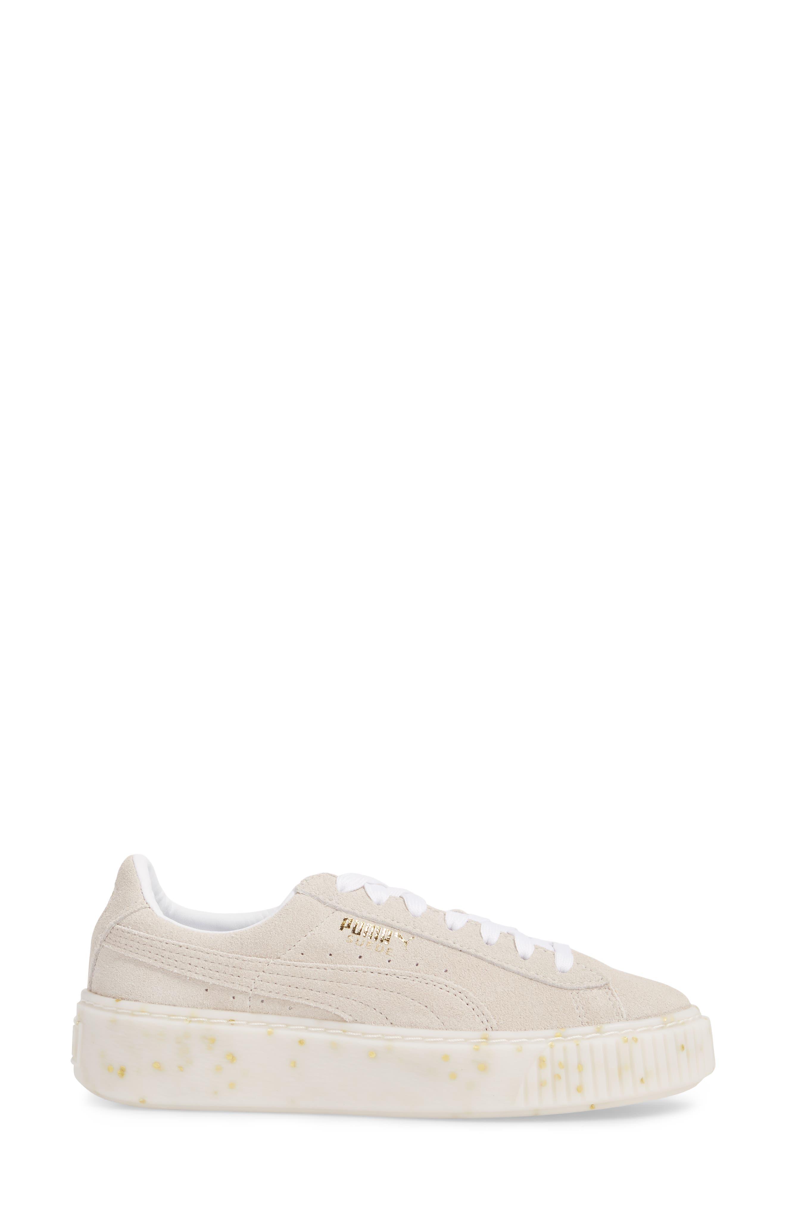 Suede Platform Sneaker,                             Alternate thumbnail 14, color,