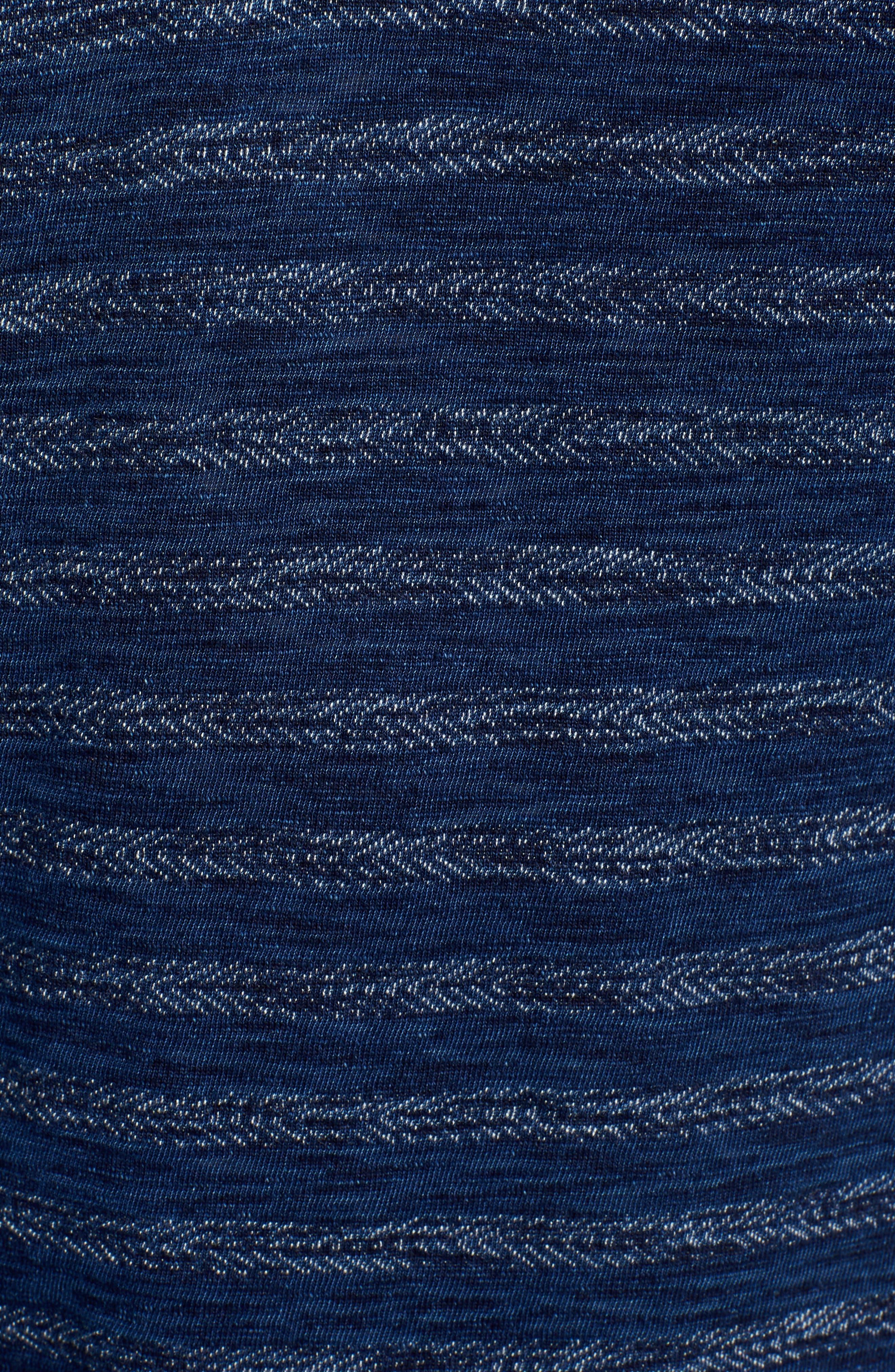 Jacquard Stripe Henley,                             Alternate thumbnail 5, color,                             INDIGO GEO ARROW