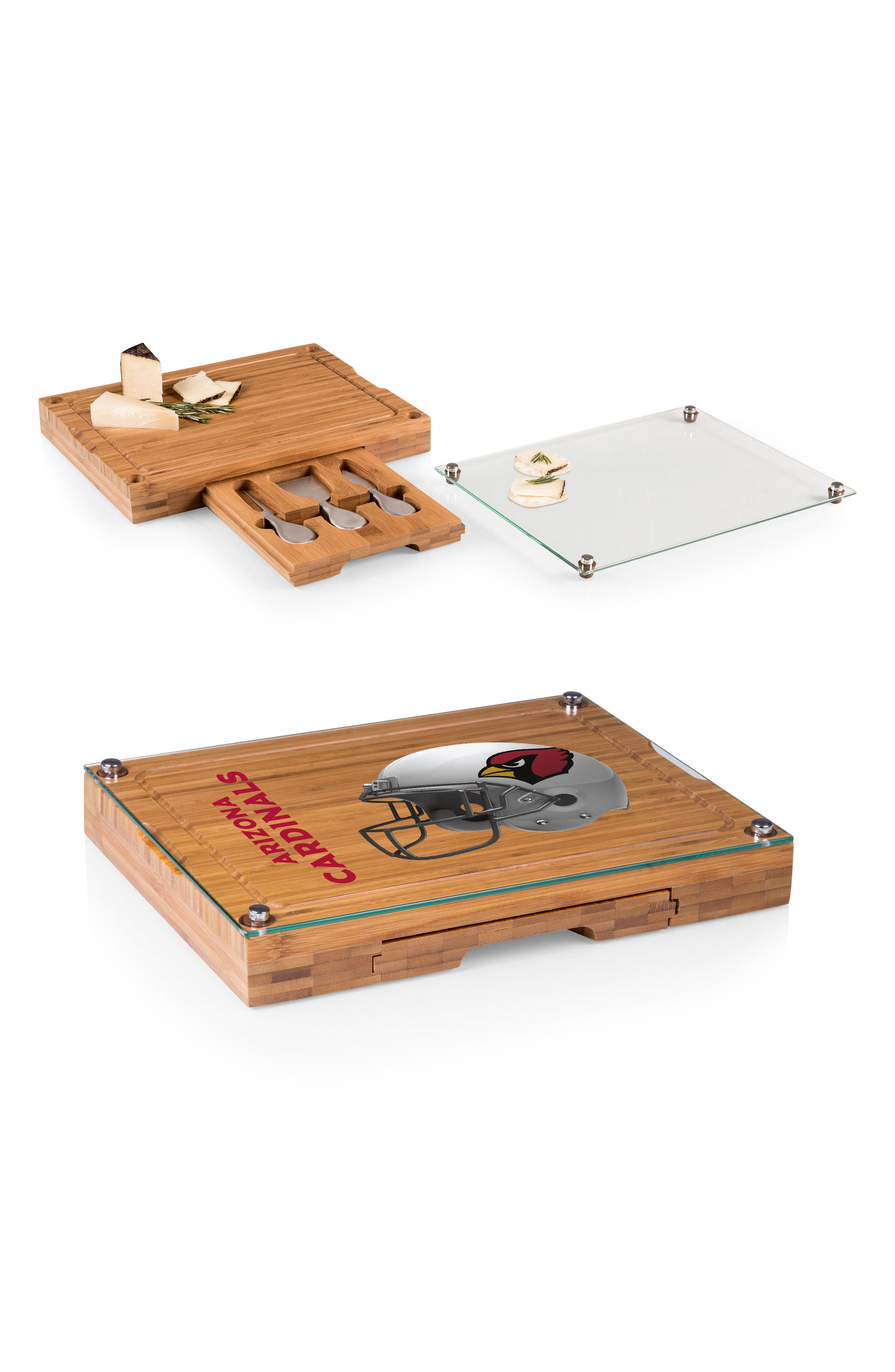Concerto - NFL 5-Piece Bamboo Wood Cheese Board Set,                             Alternate thumbnail 2, color,                             200