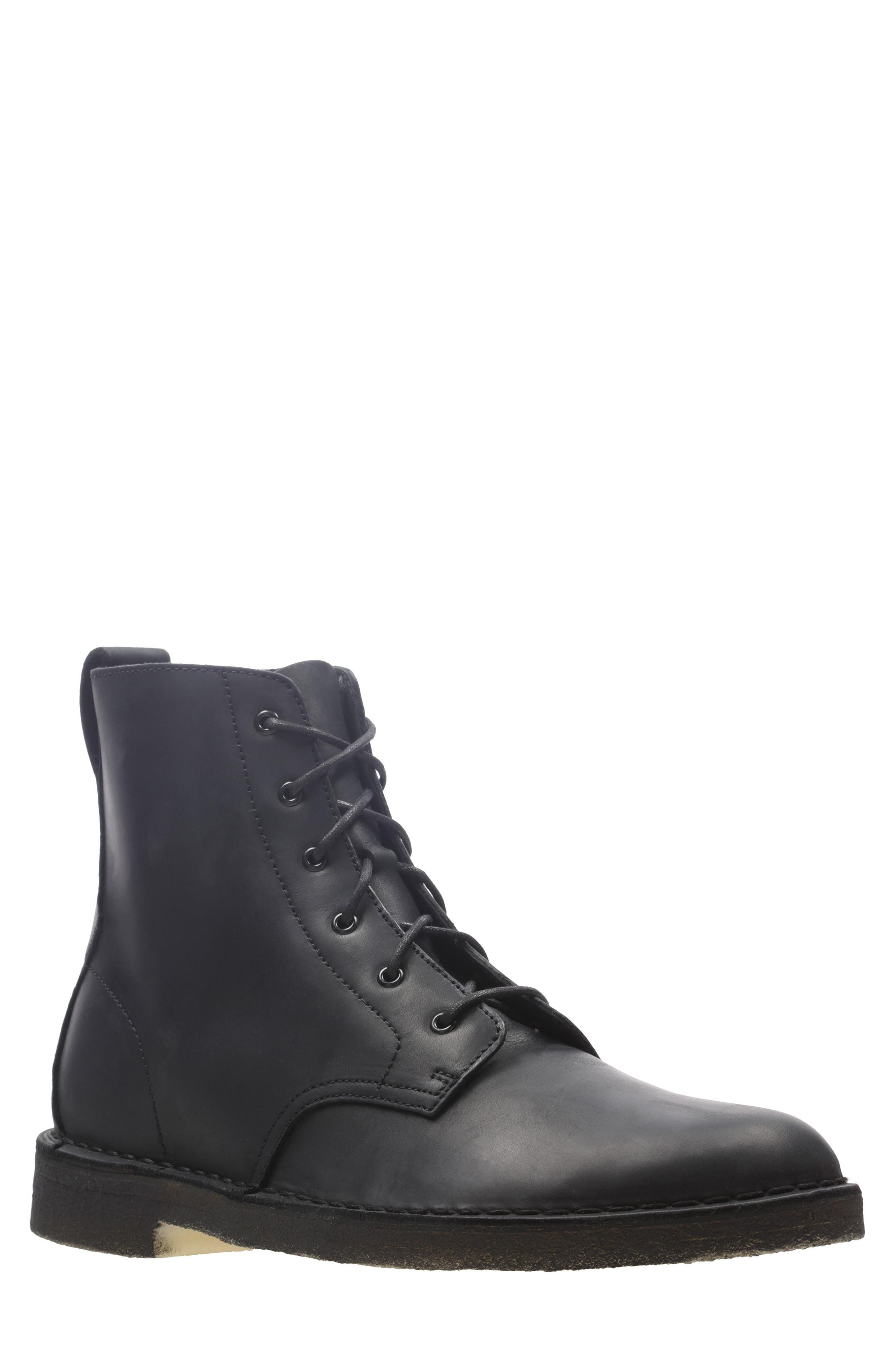 Originals 'Desert Mali' Boot,                         Main,                         color, BLACK LEATHER