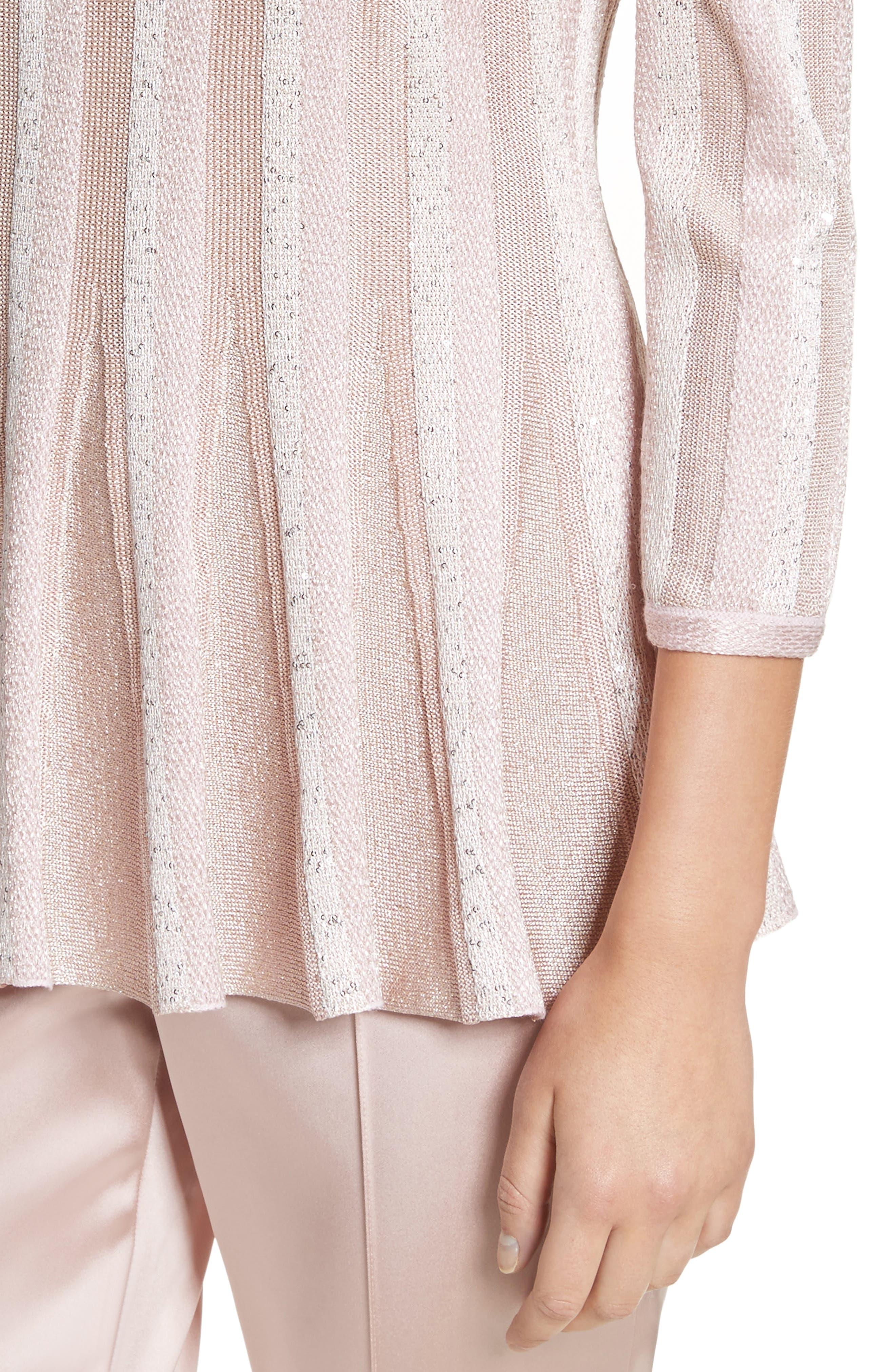 Ombré Sequin Stripe Knit Top,                             Alternate thumbnail 4, color,                             650