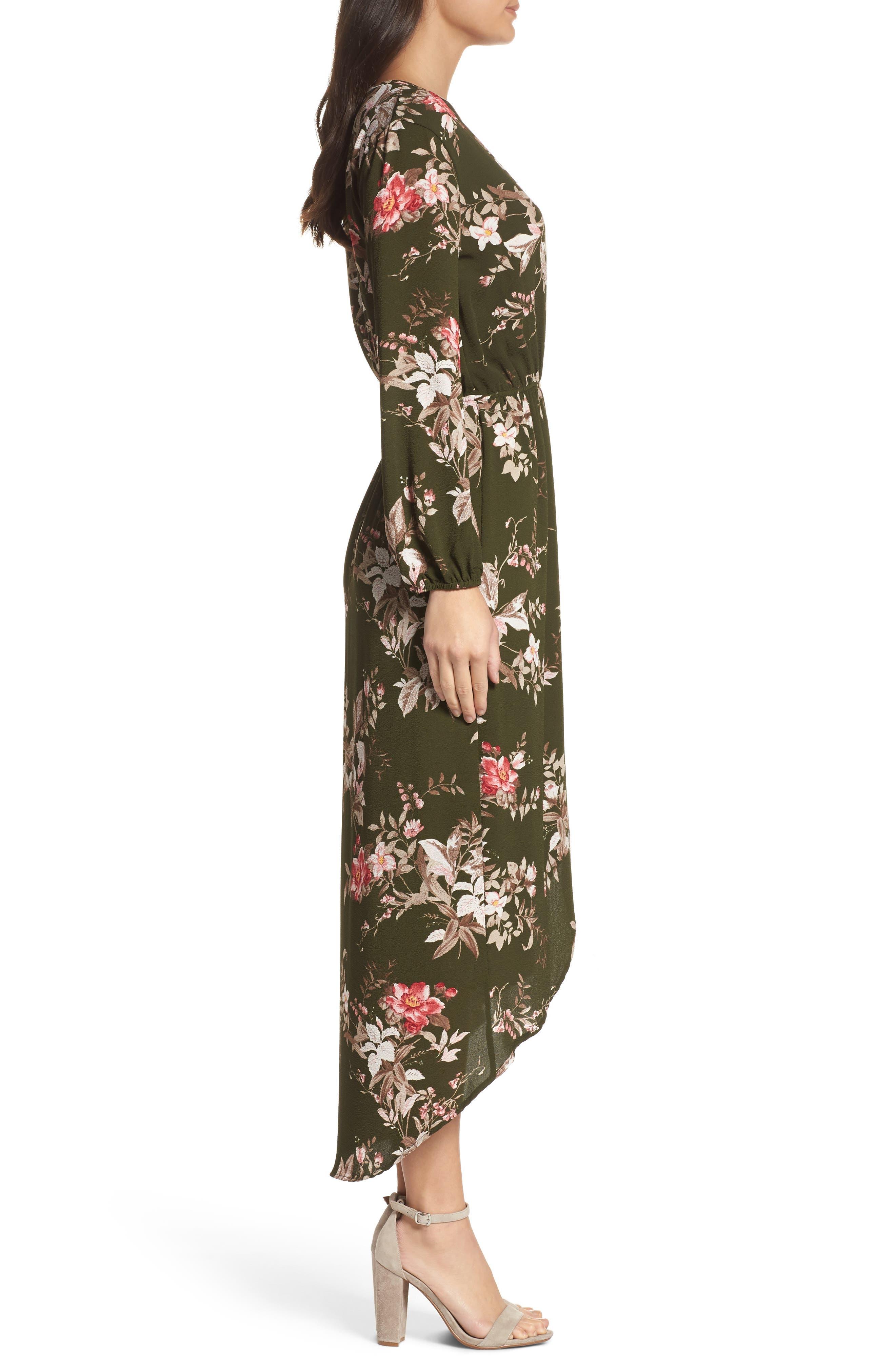 High/Low Maxi Dress,                             Alternate thumbnail 3, color,                             315