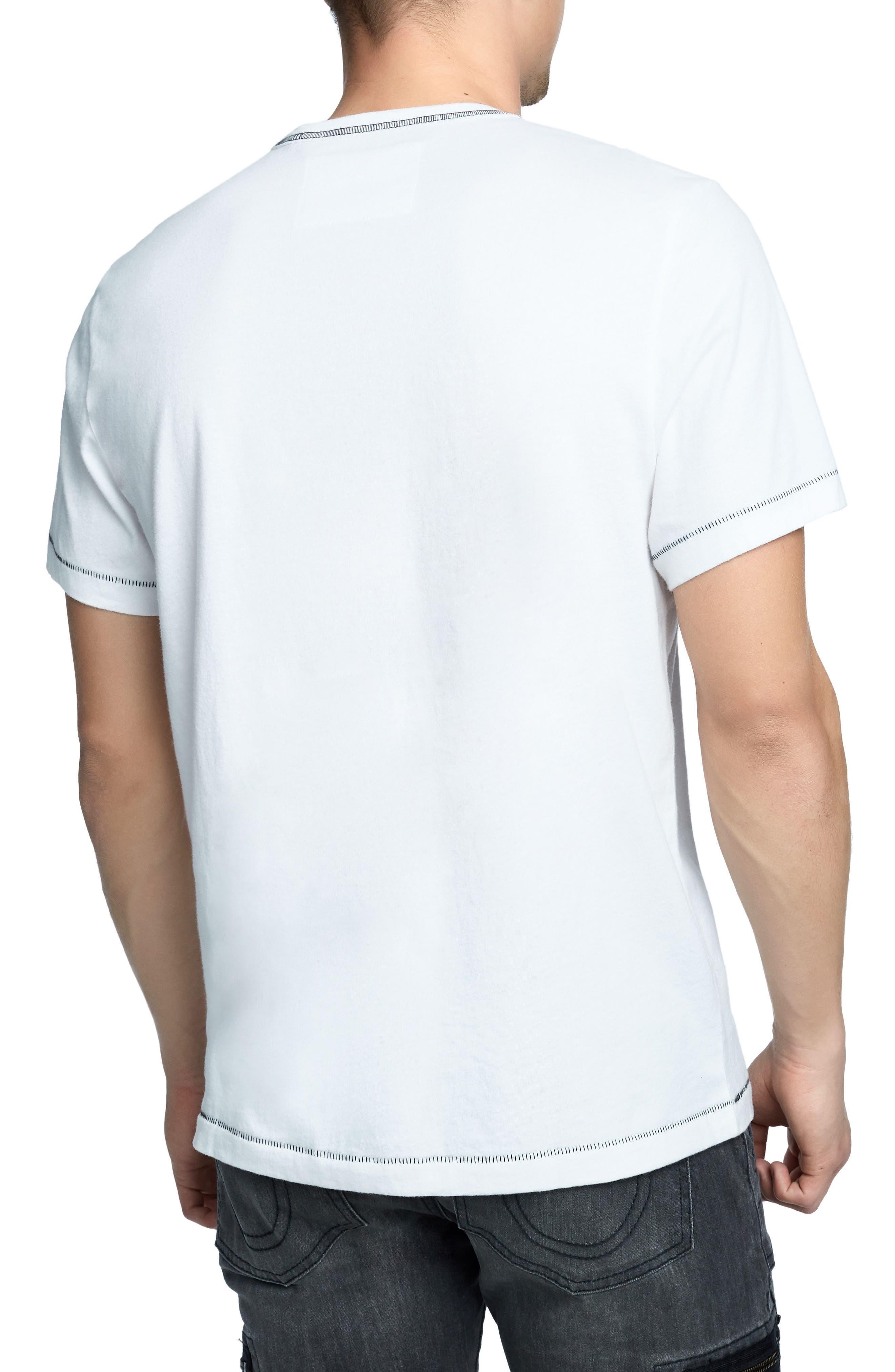 TRUE RELIGION BRAND JEANS,                             Heritage Logo T-Shirt,                             Alternate thumbnail 2, color,                             100
