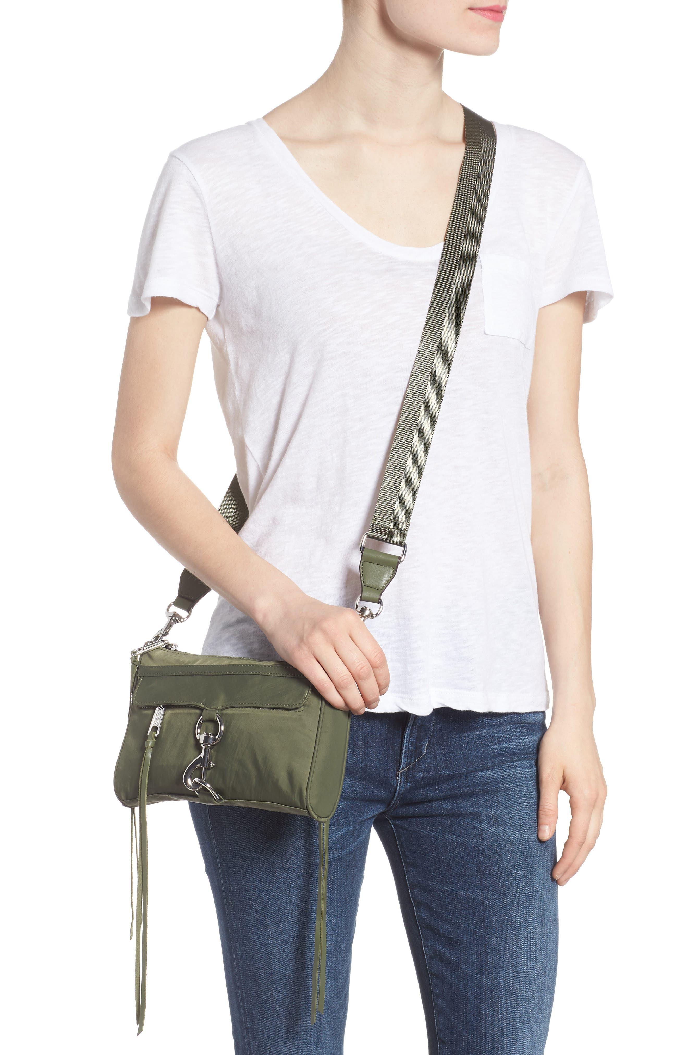 Mini Mac Convertible Crossbody Bag,                             Alternate thumbnail 2, color,                             OLIVE