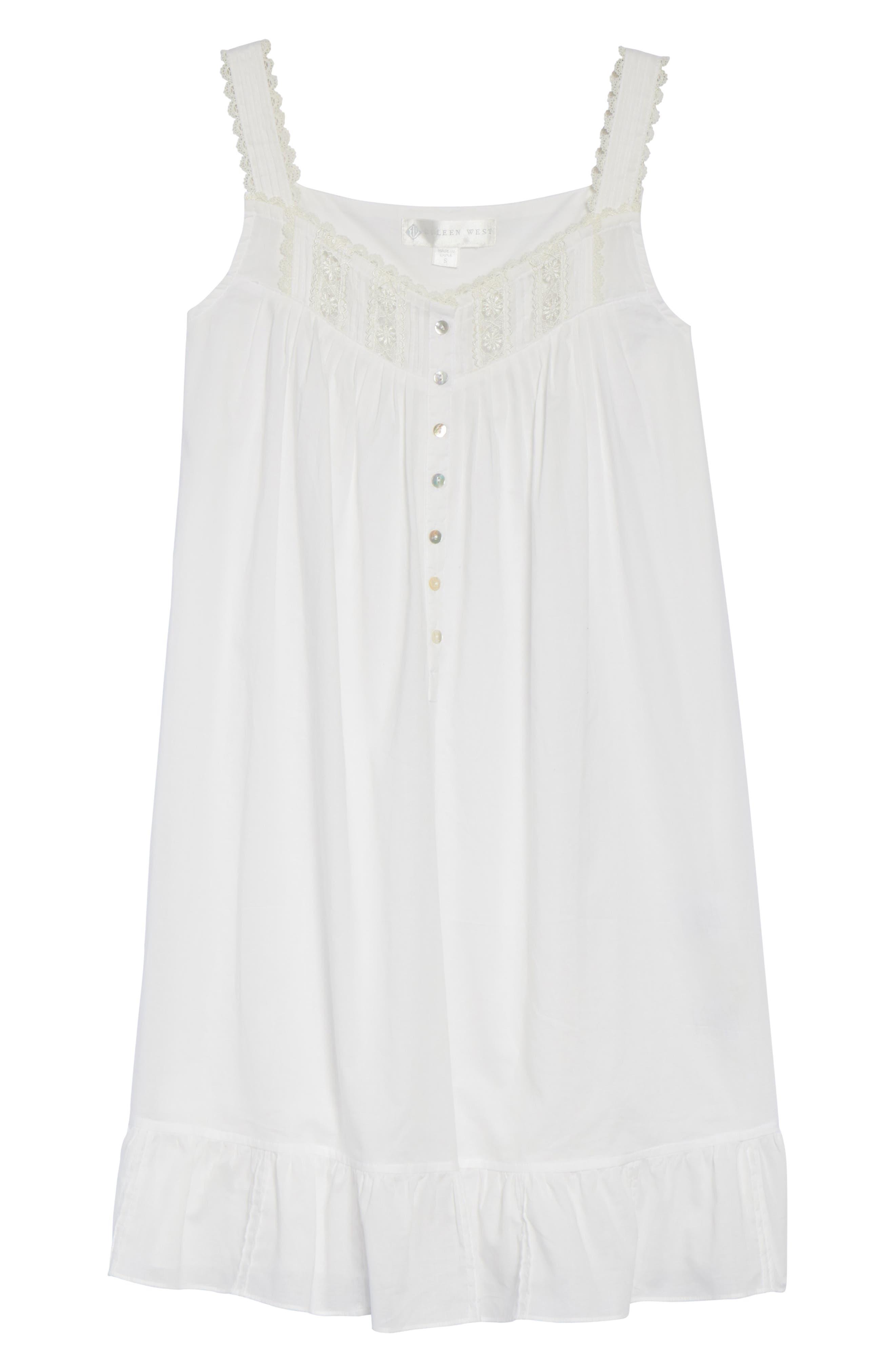 Short Lawn Nightgown,                             Alternate thumbnail 6, color,                             100