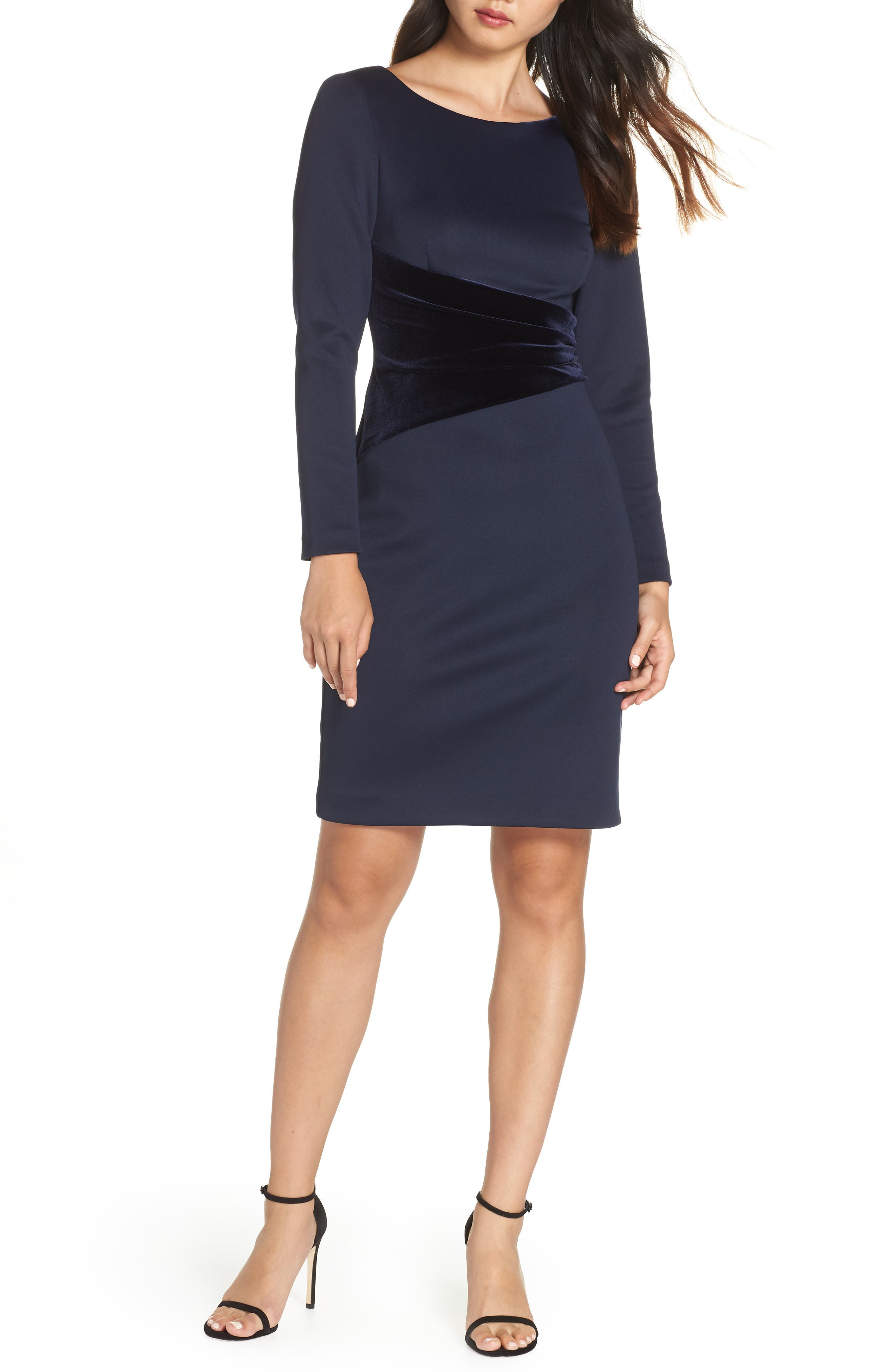 Vince Camuto Contrast Dress, Blue