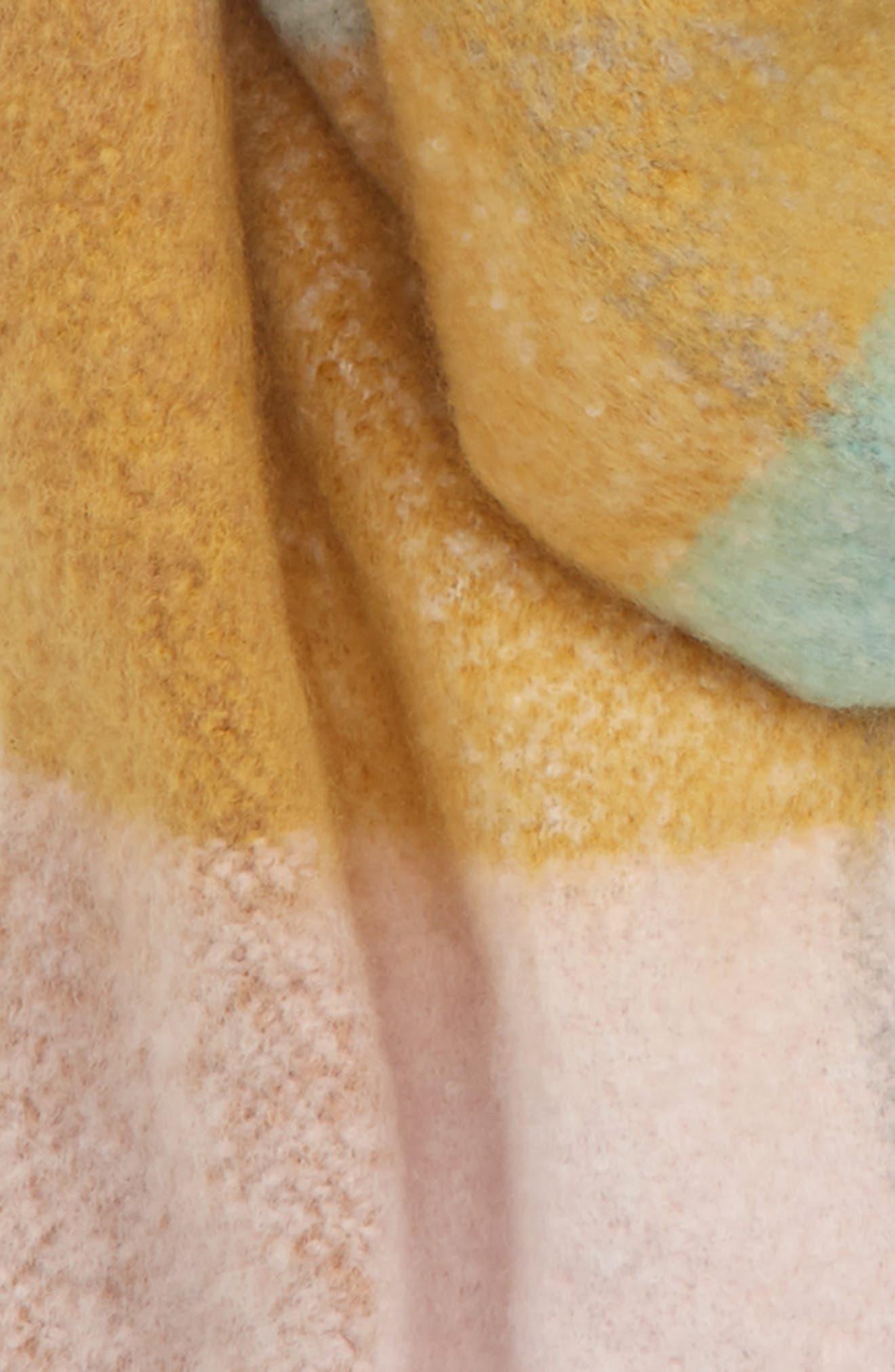 Heavy Gingham Scarf,                             Alternate thumbnail 4, color,                             MINT MULTI