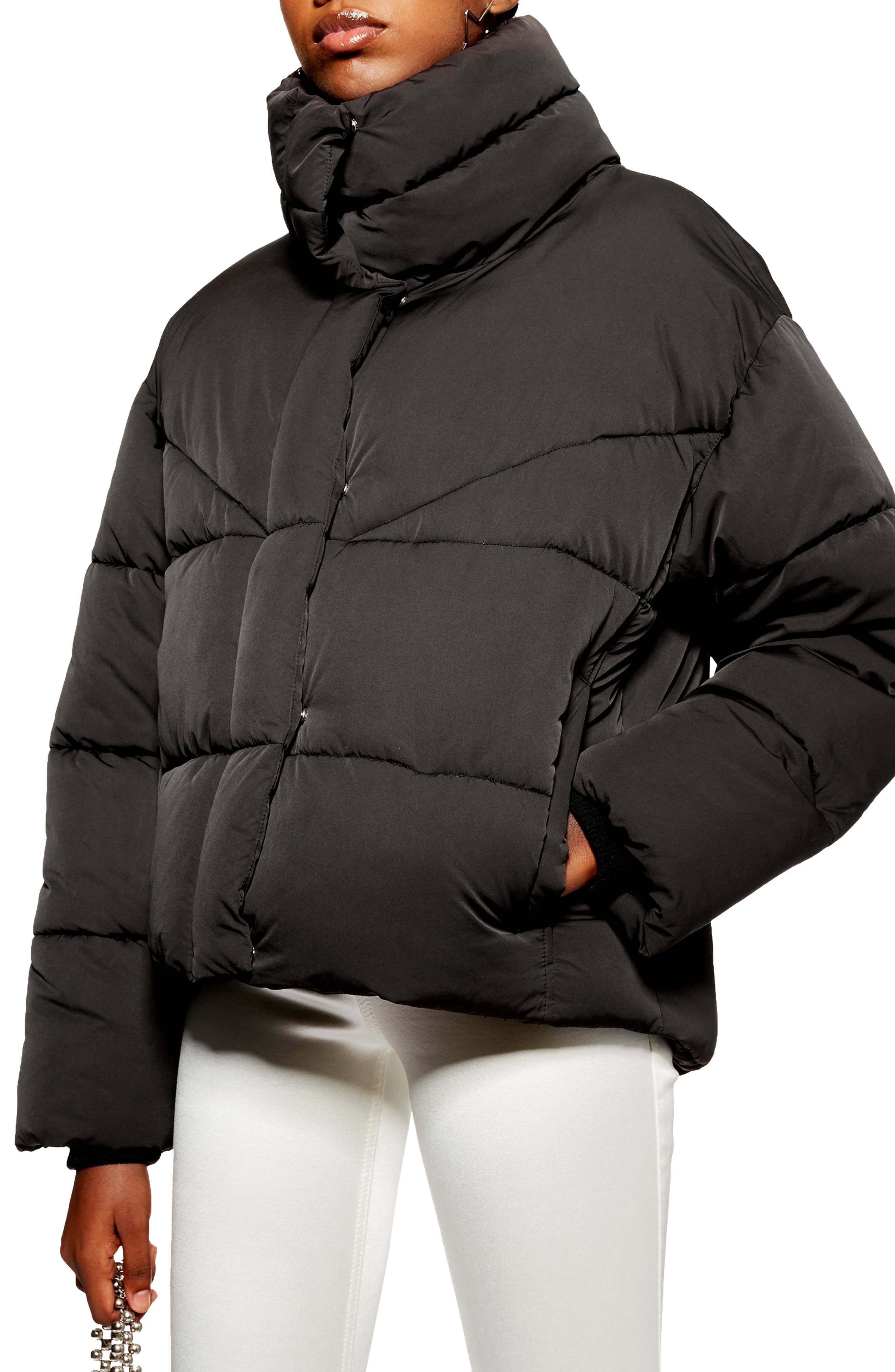 Meghan Puffer Jacket,                         Main,                         color, BLACK