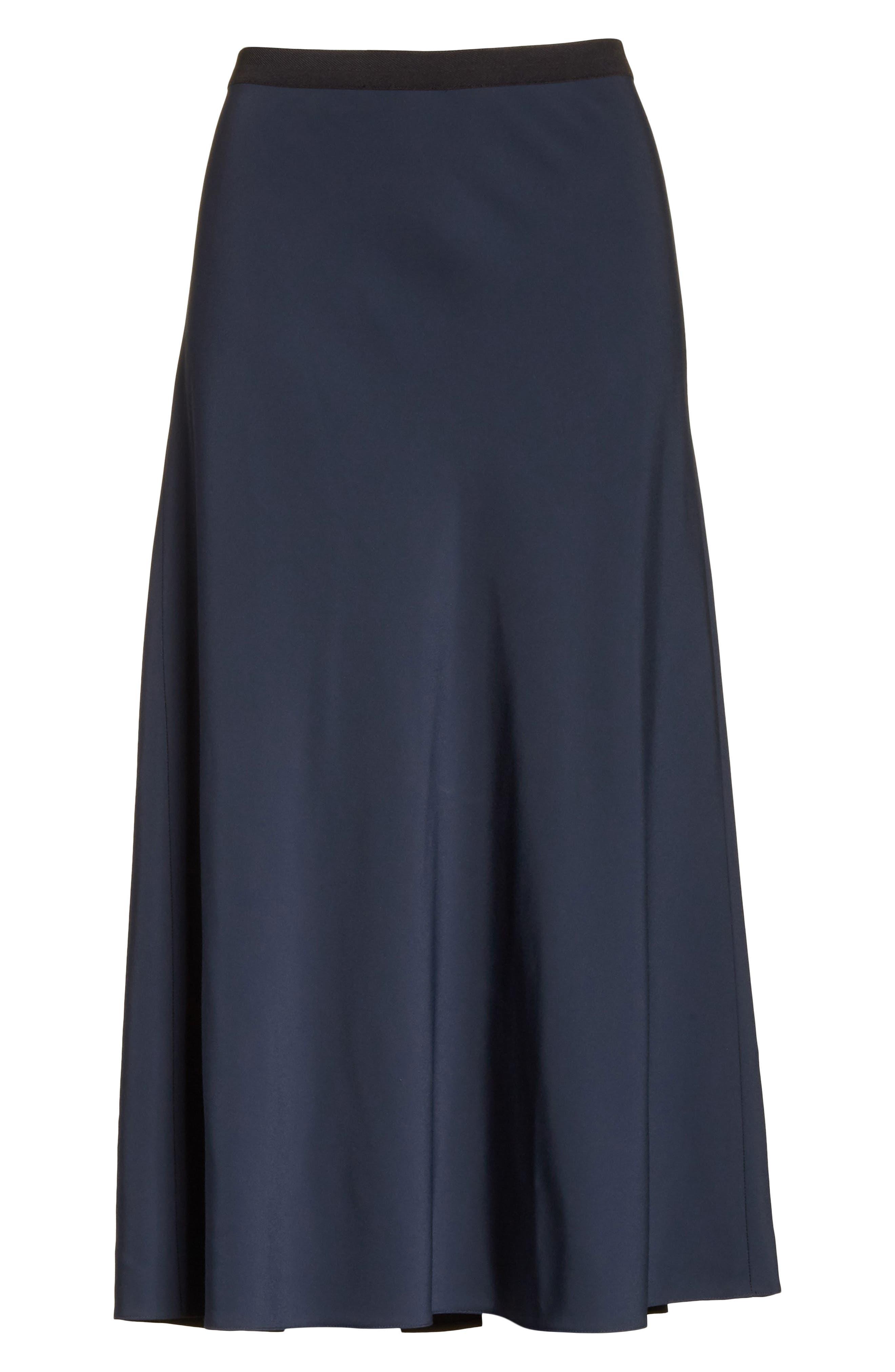 Elastic Waist Slip Skirt,                             Alternate thumbnail 6, color,                             403