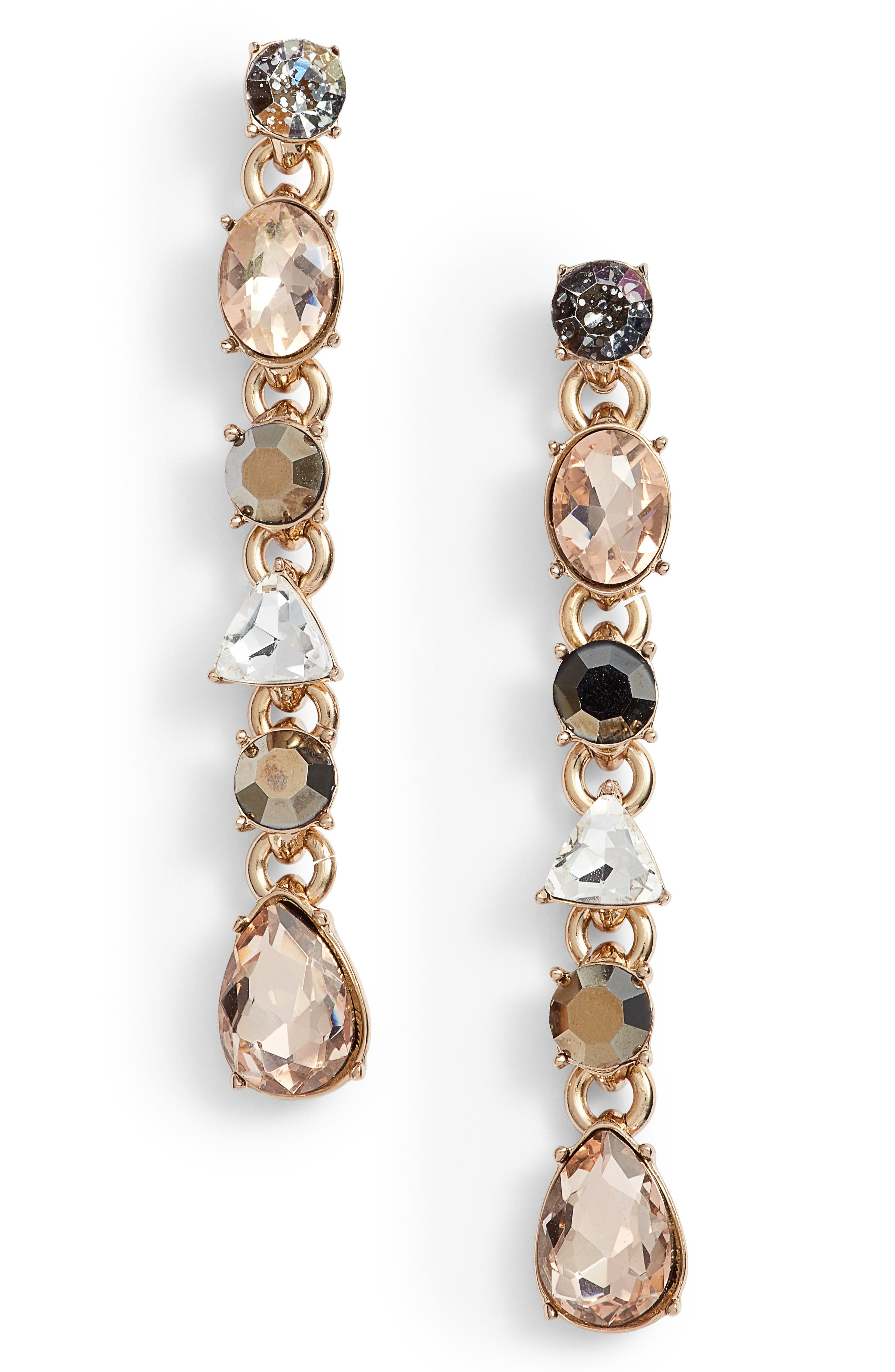 Linear Drop Earrings,                             Main thumbnail 1, color,                             710