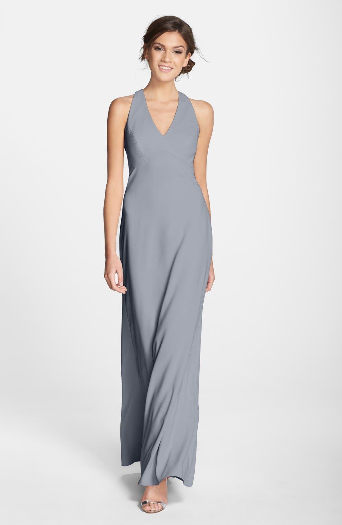 Crepe Gown,                             Main thumbnail 1, color,