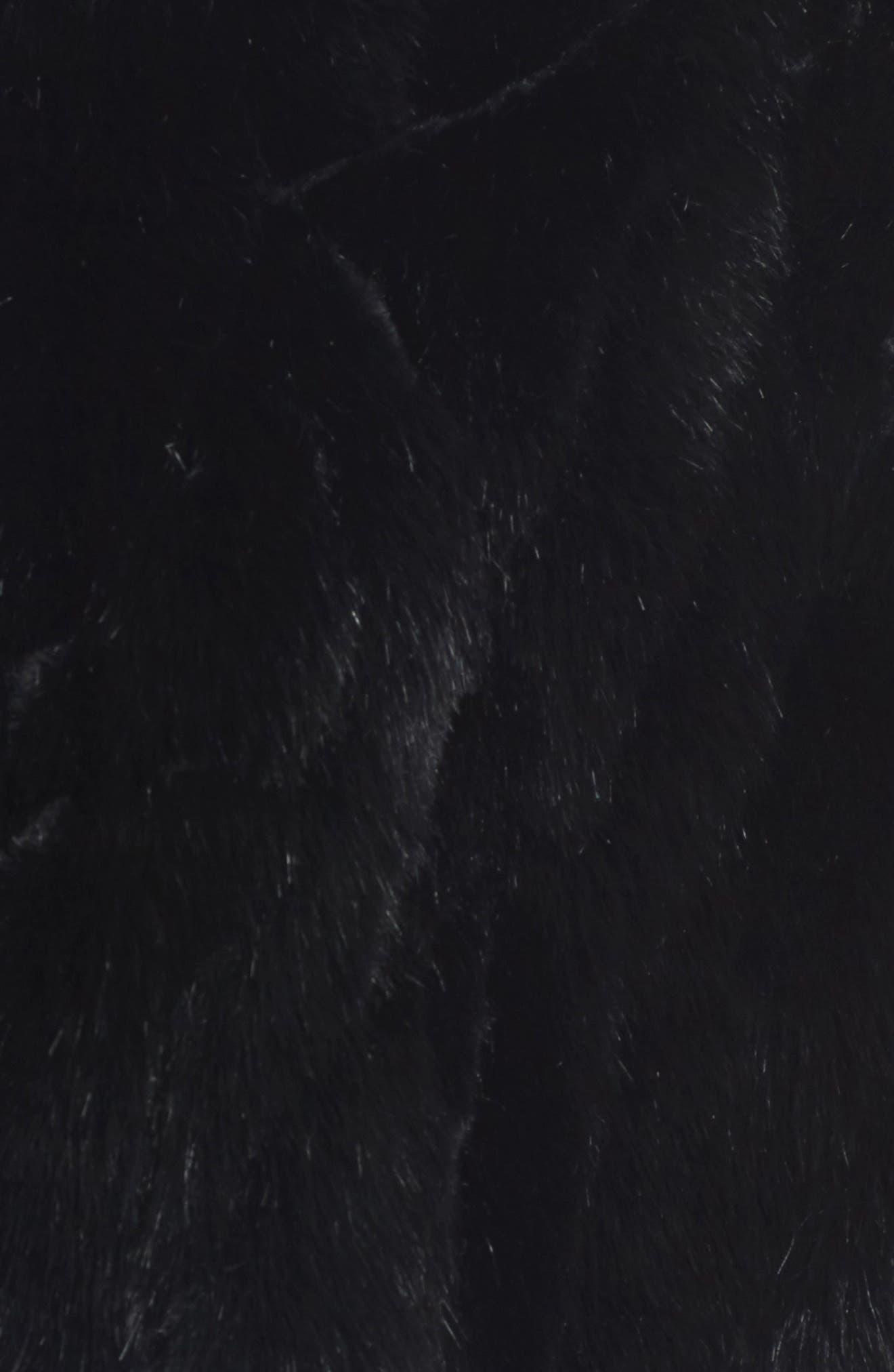 Faux Fur Capelet,                             Alternate thumbnail 5, color,                             001