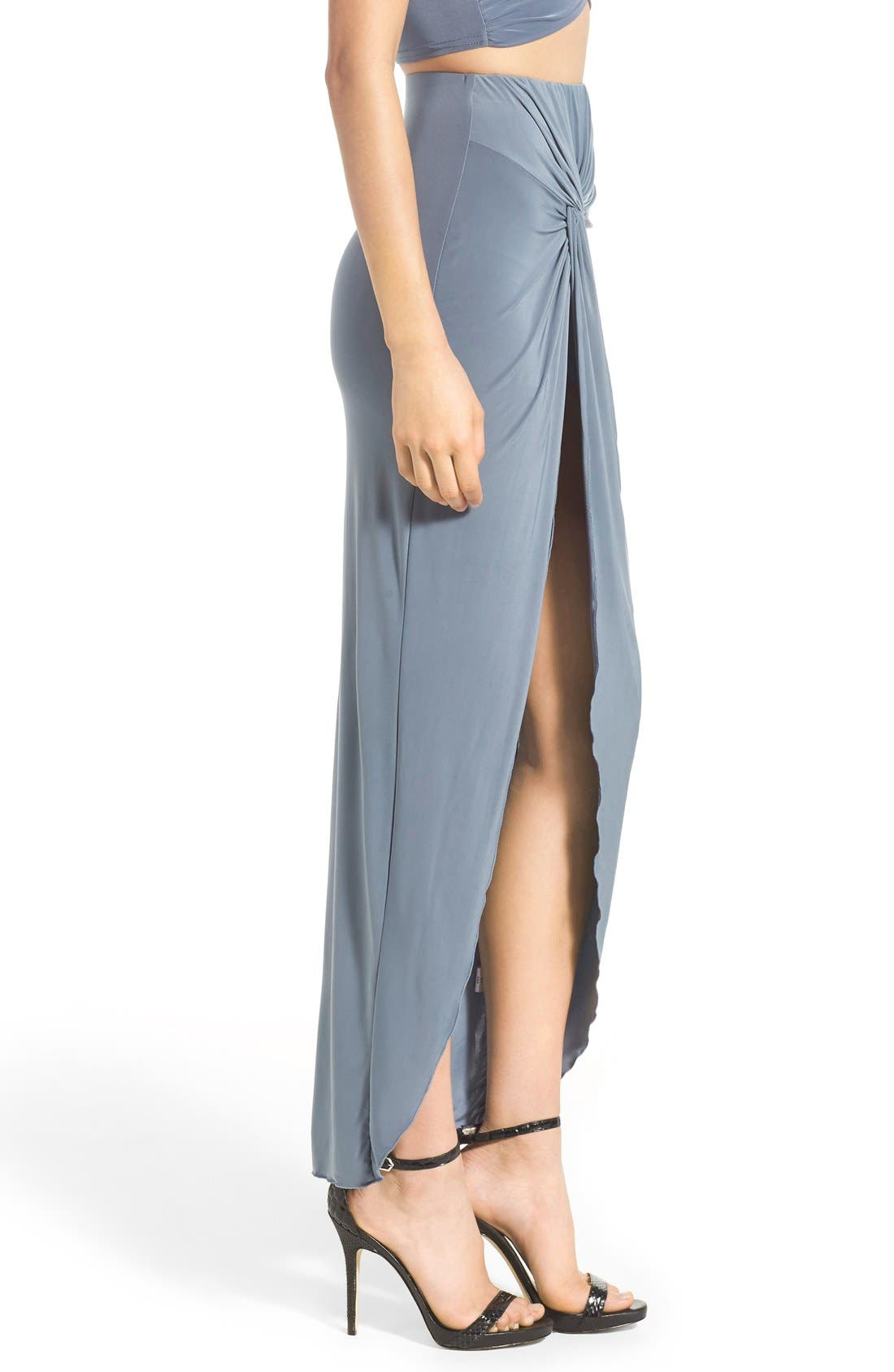 Knot Maxi Skirt,                             Alternate thumbnail 3, color,                             400