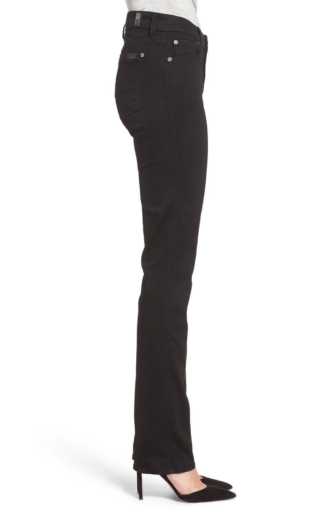 7 FOR ALL MANKIND<SUP>®</SUP>,                             'b(air) - Kimmie' Straight Leg Jeans,                             Alternate thumbnail 7, color,                             BAIR BLACK