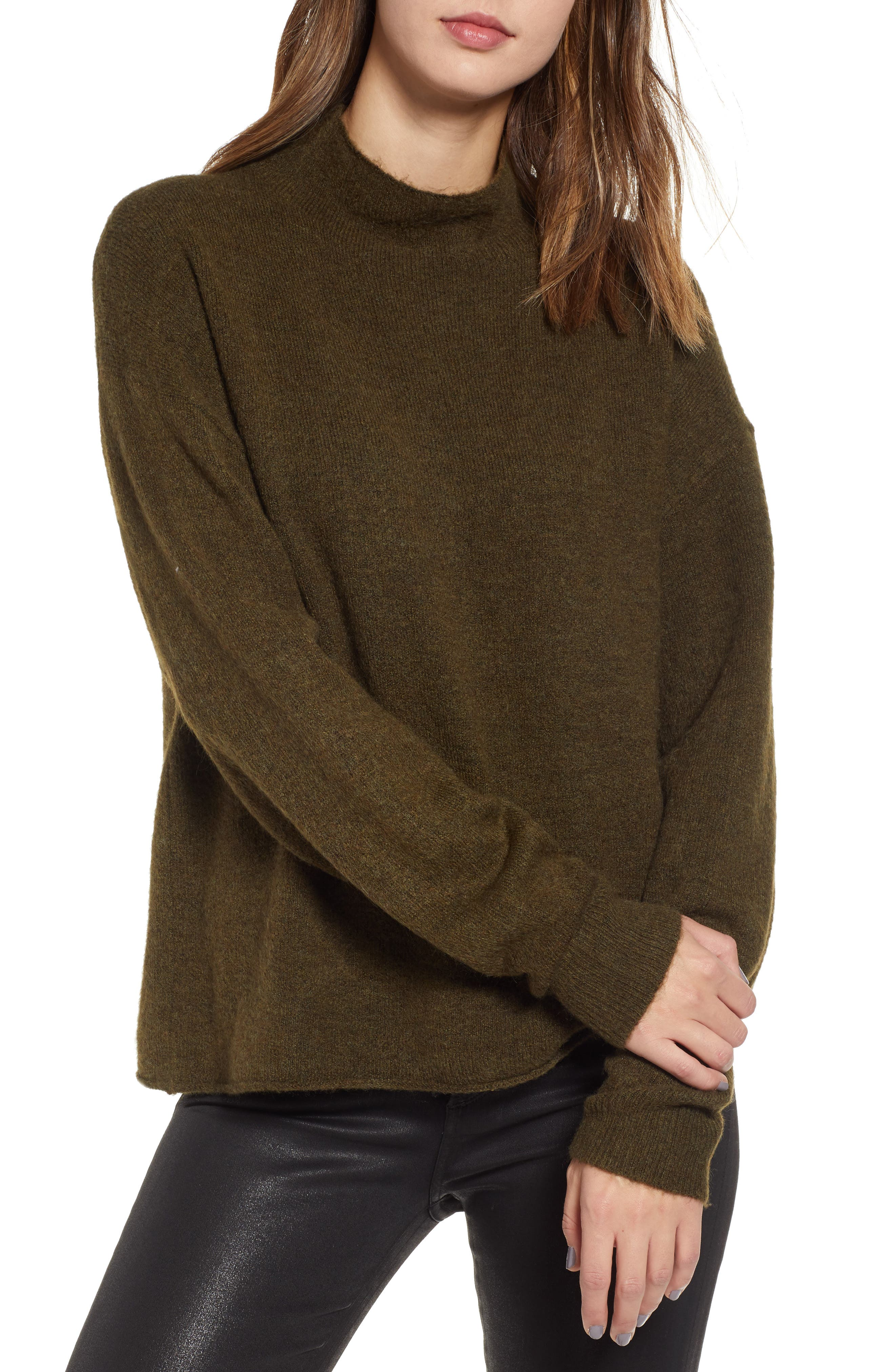 Cozy Mock Neck Sweater,                         Main,                         color, 301