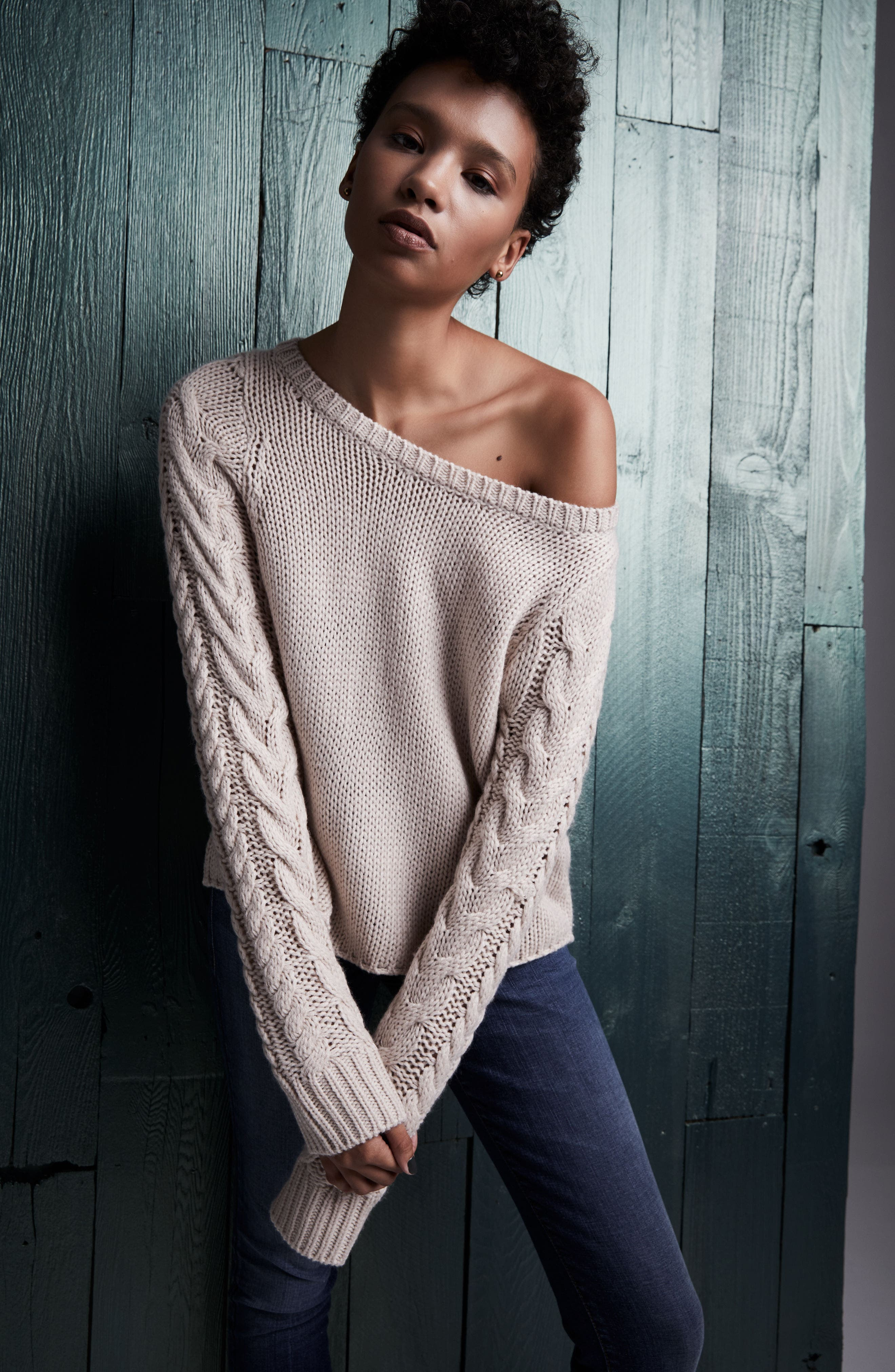 Cable Sleeve Pullover,                             Alternate thumbnail 7, color,                             270