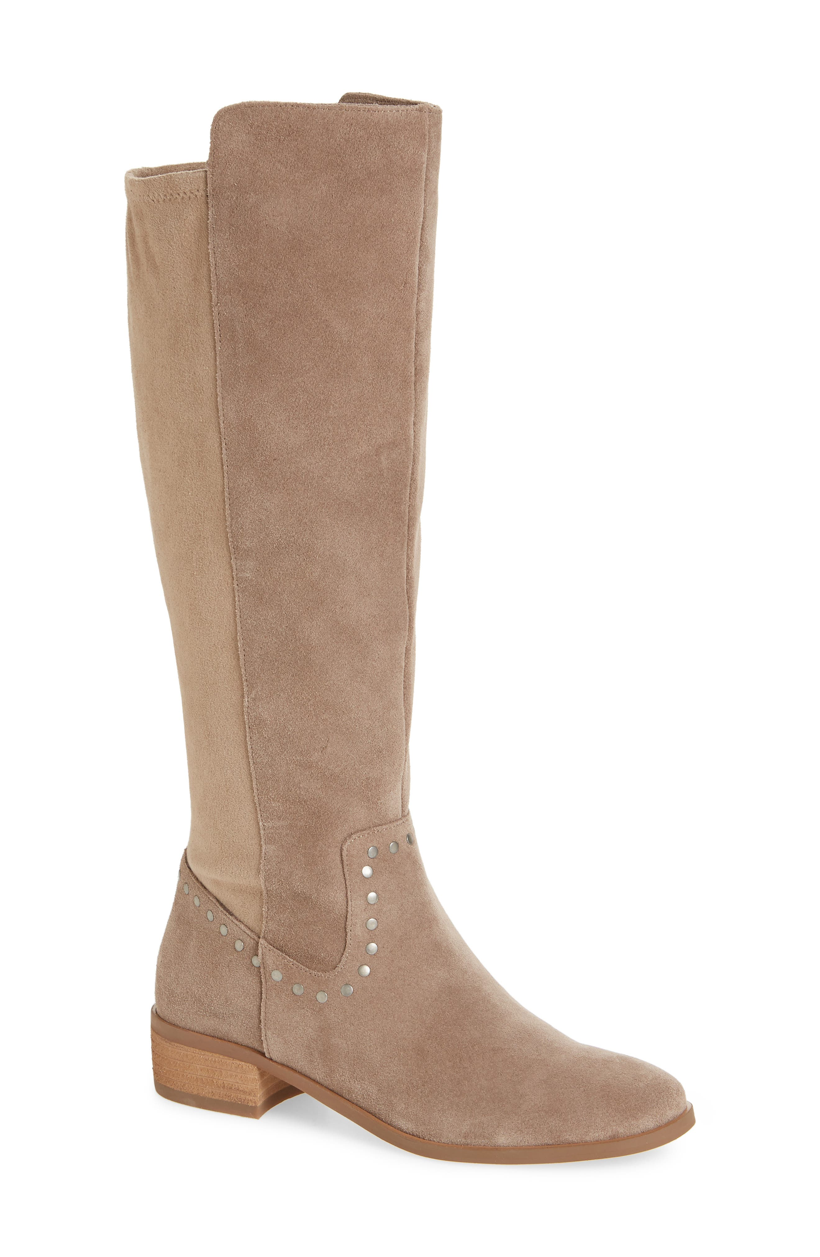 Calvenia Knee High Boot,                         Main,                         color, FALL TAUPE SUEDE