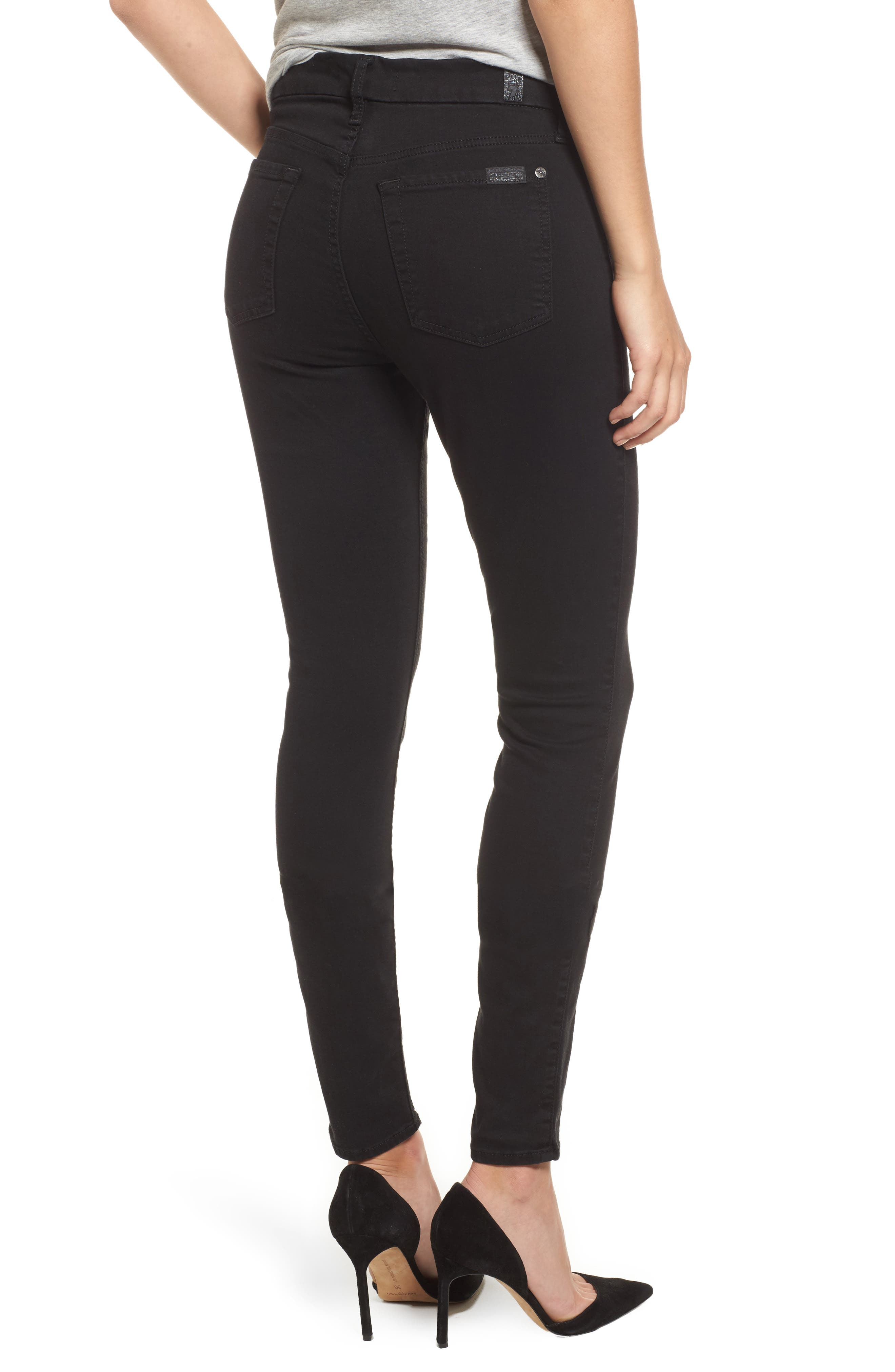 b(air) High Waist Skinny Jeans,                             Alternate thumbnail 2, color,                             B(AIR) BLACK