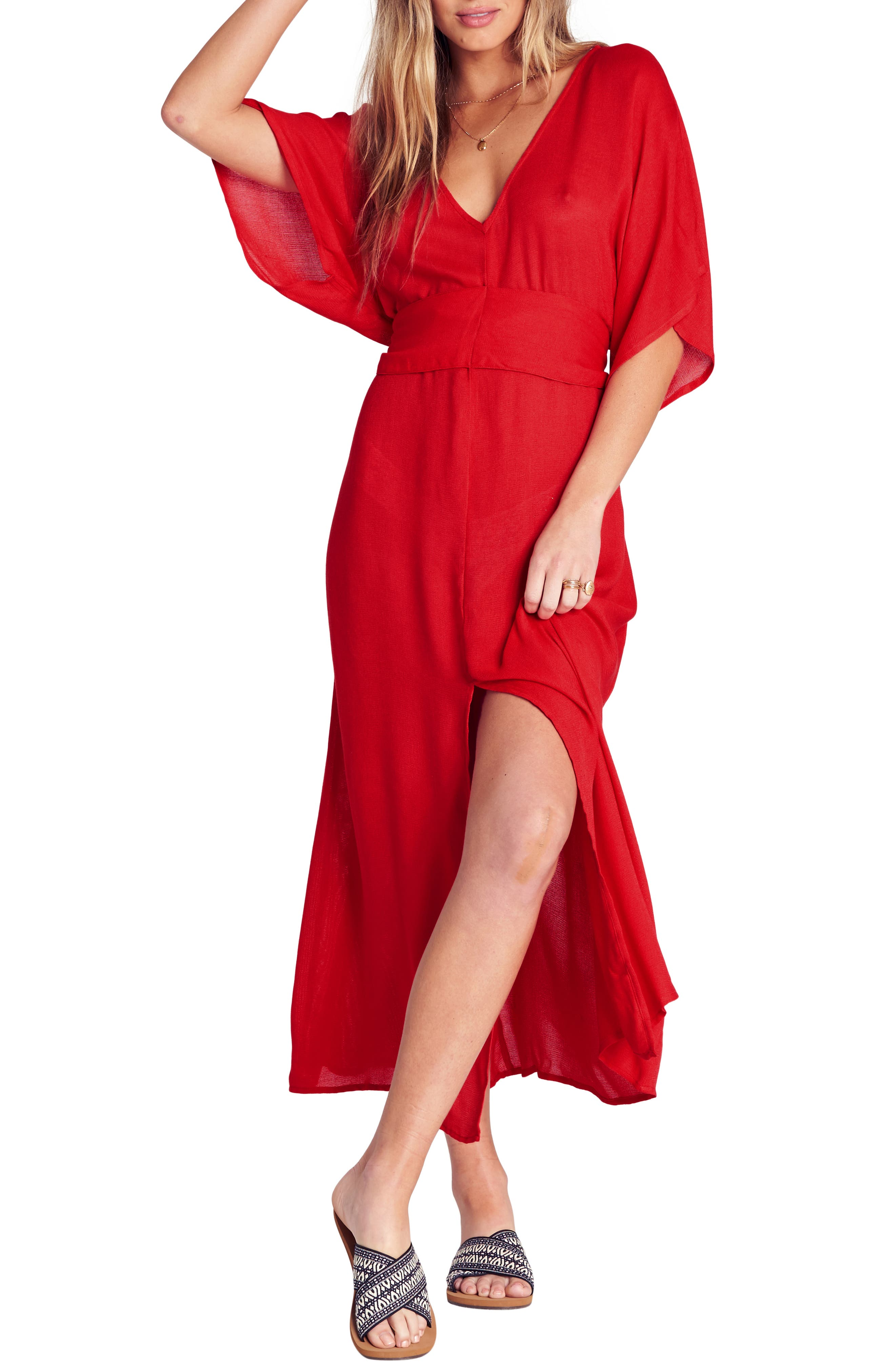 Billabong Forever Fine Dress, Red