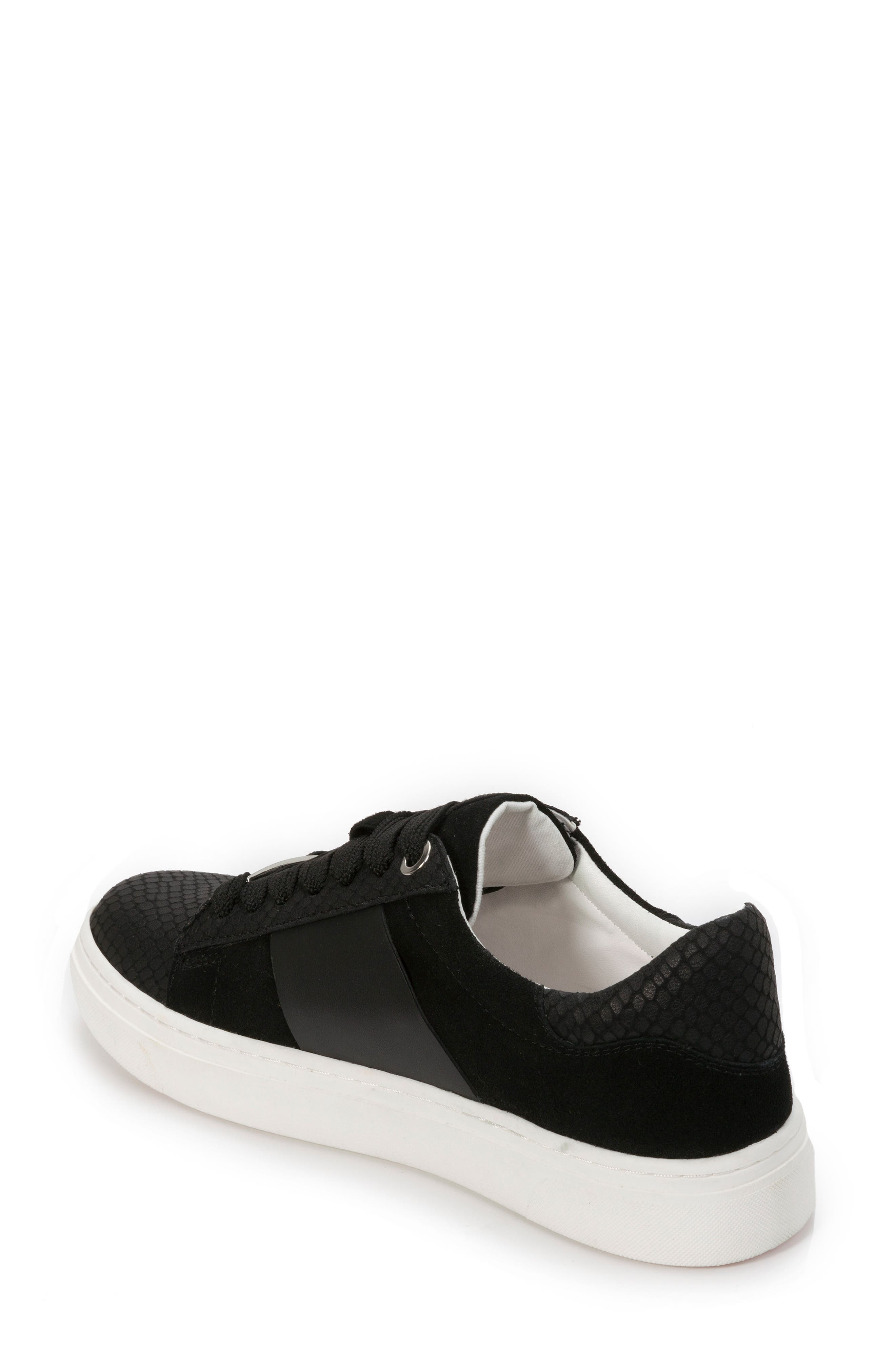 Fallon Sneaker,                             Alternate thumbnail 2, color,                             BLACK SUEDE