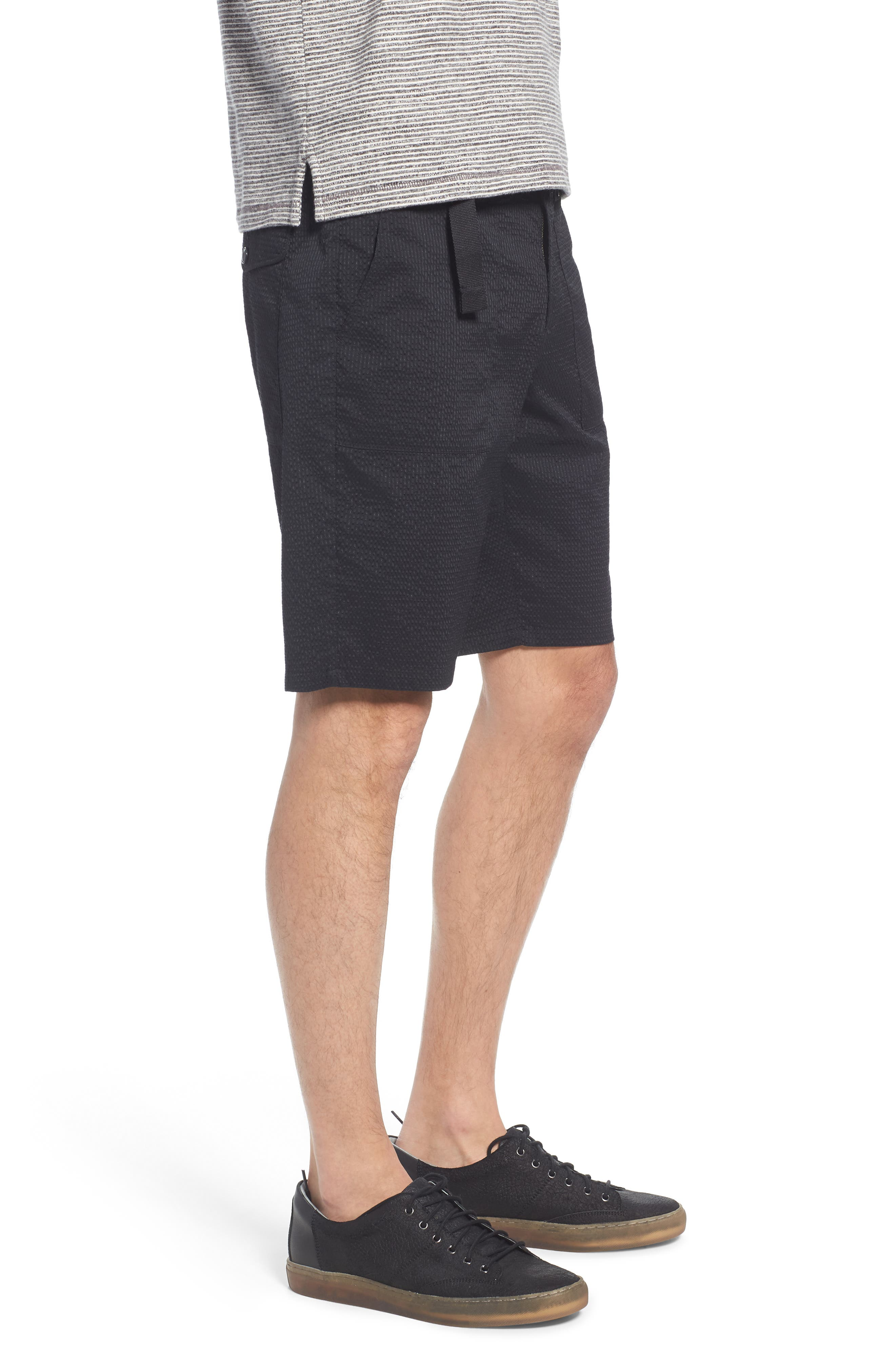 Utility Seersucker Shorts,                             Alternate thumbnail 3, color,