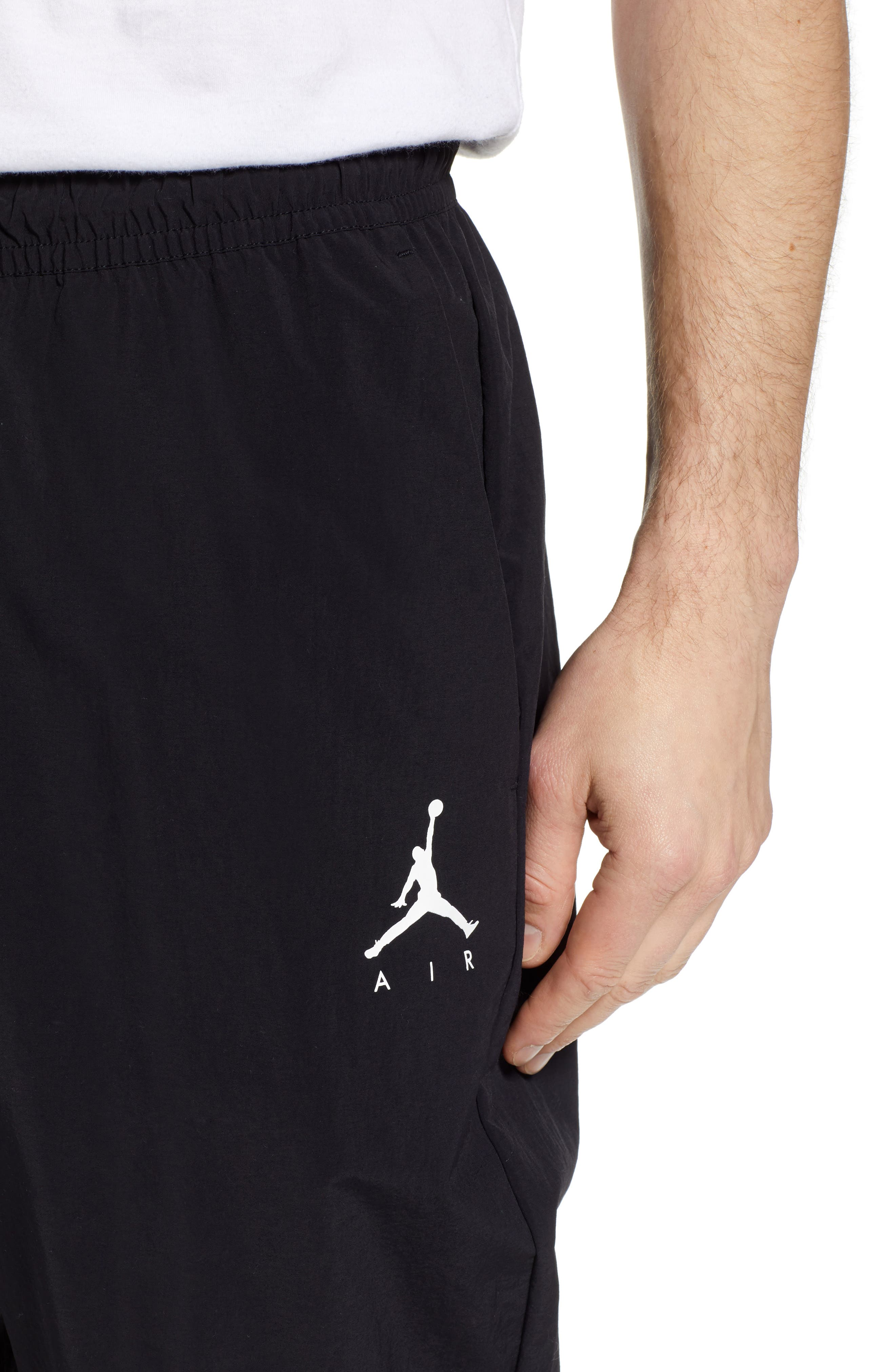 Jordan Jumpman Woven Pants,                             Alternate thumbnail 4, color,                             BLACK/ WHITE