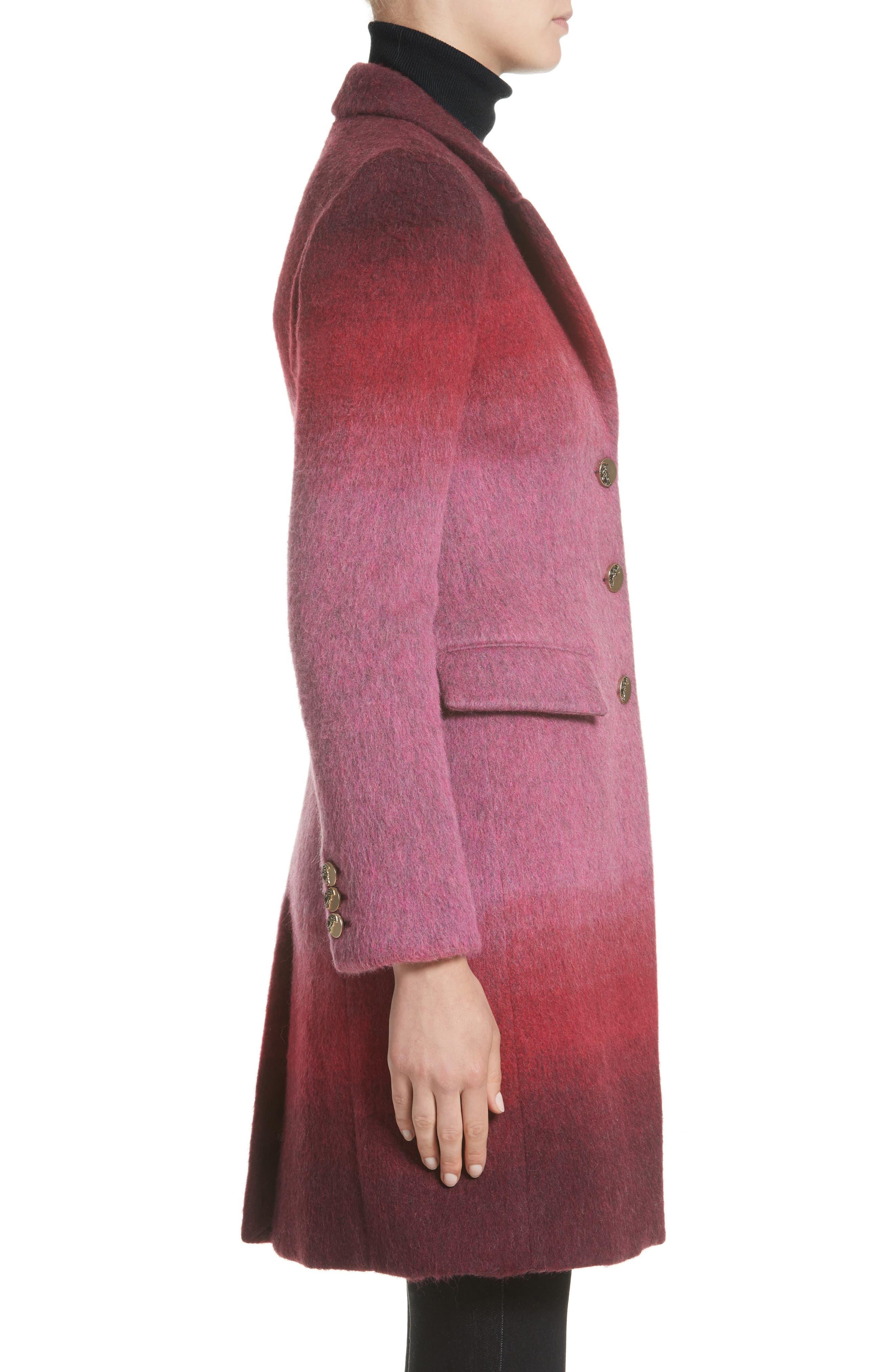 Collection Dégradé Wool Blend Coat,                             Alternate thumbnail 3, color,                             650