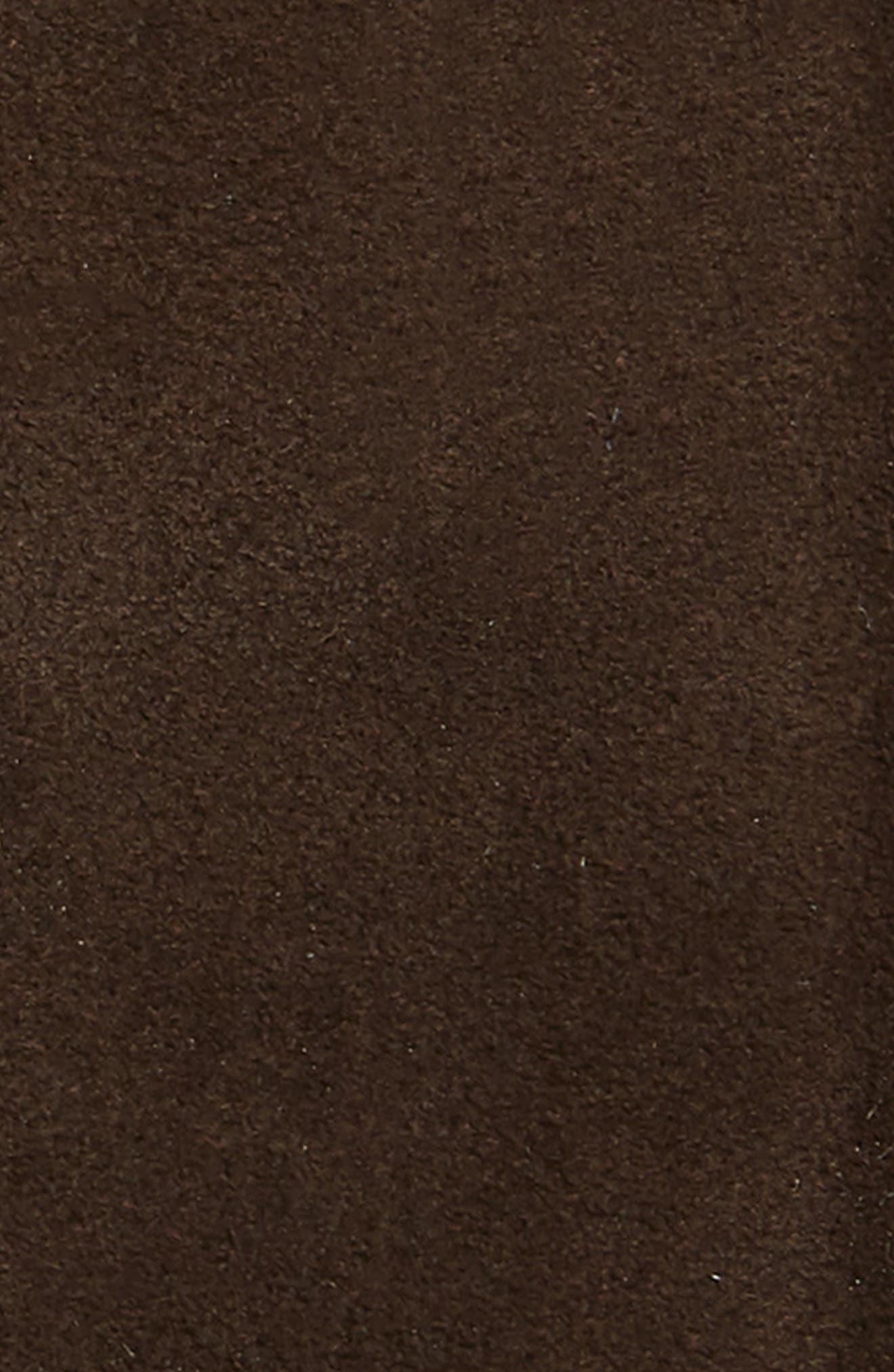 Suede Belt,                             Alternate thumbnail 2, color,                             SUEDE ALASKA DARK BROWN