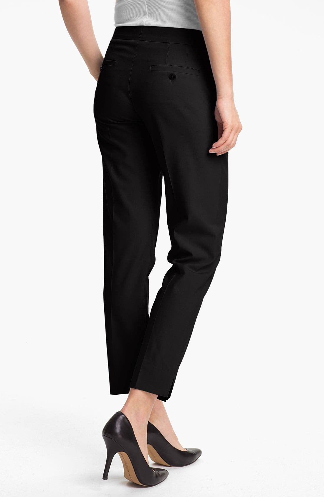 'Ibbey' Crop Trousers,                             Alternate thumbnail 2, color,                             001