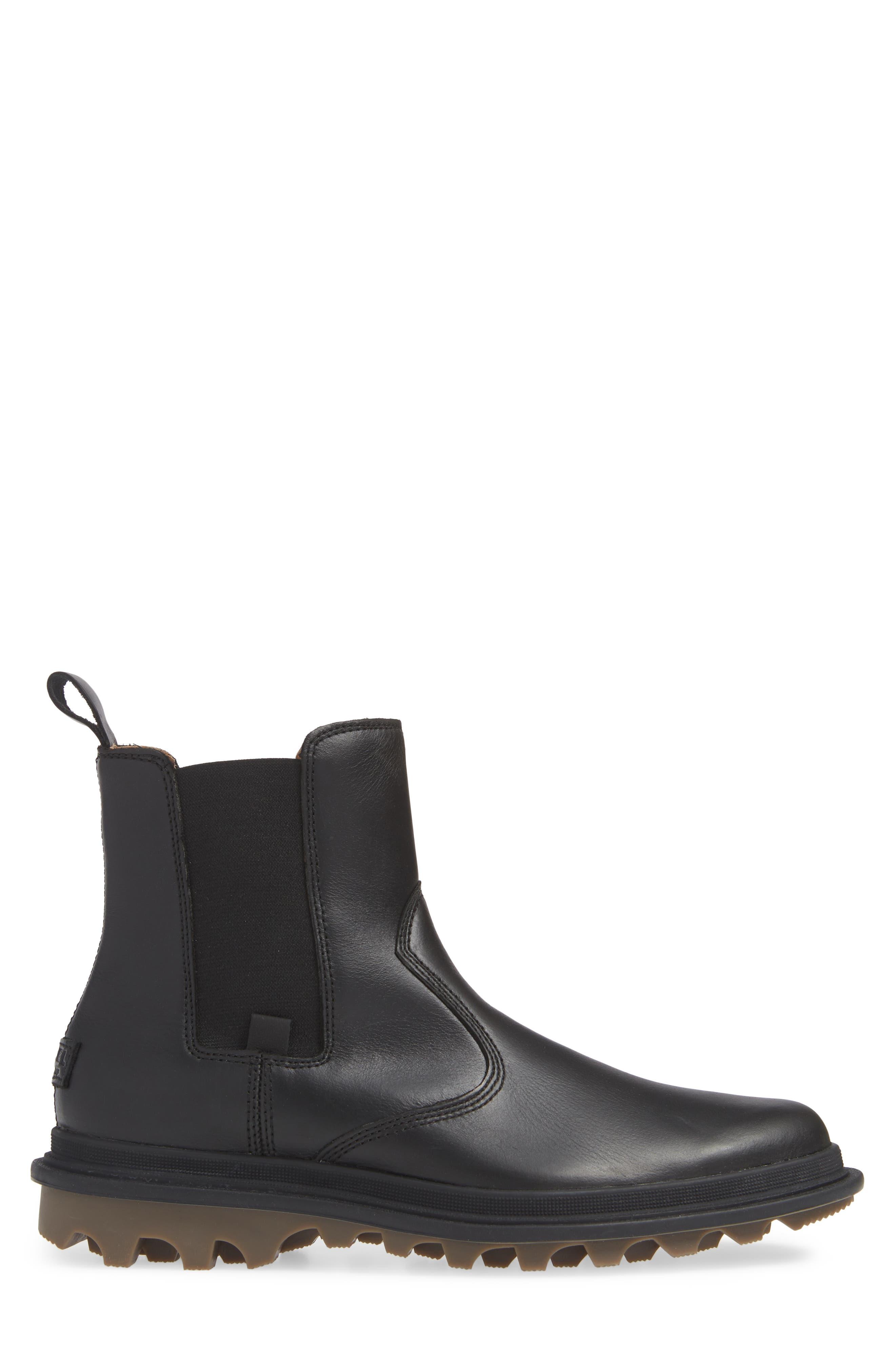SOREL,                             Ace Waterproof Chelsea Boot,                             Alternate thumbnail 3, color,                             010