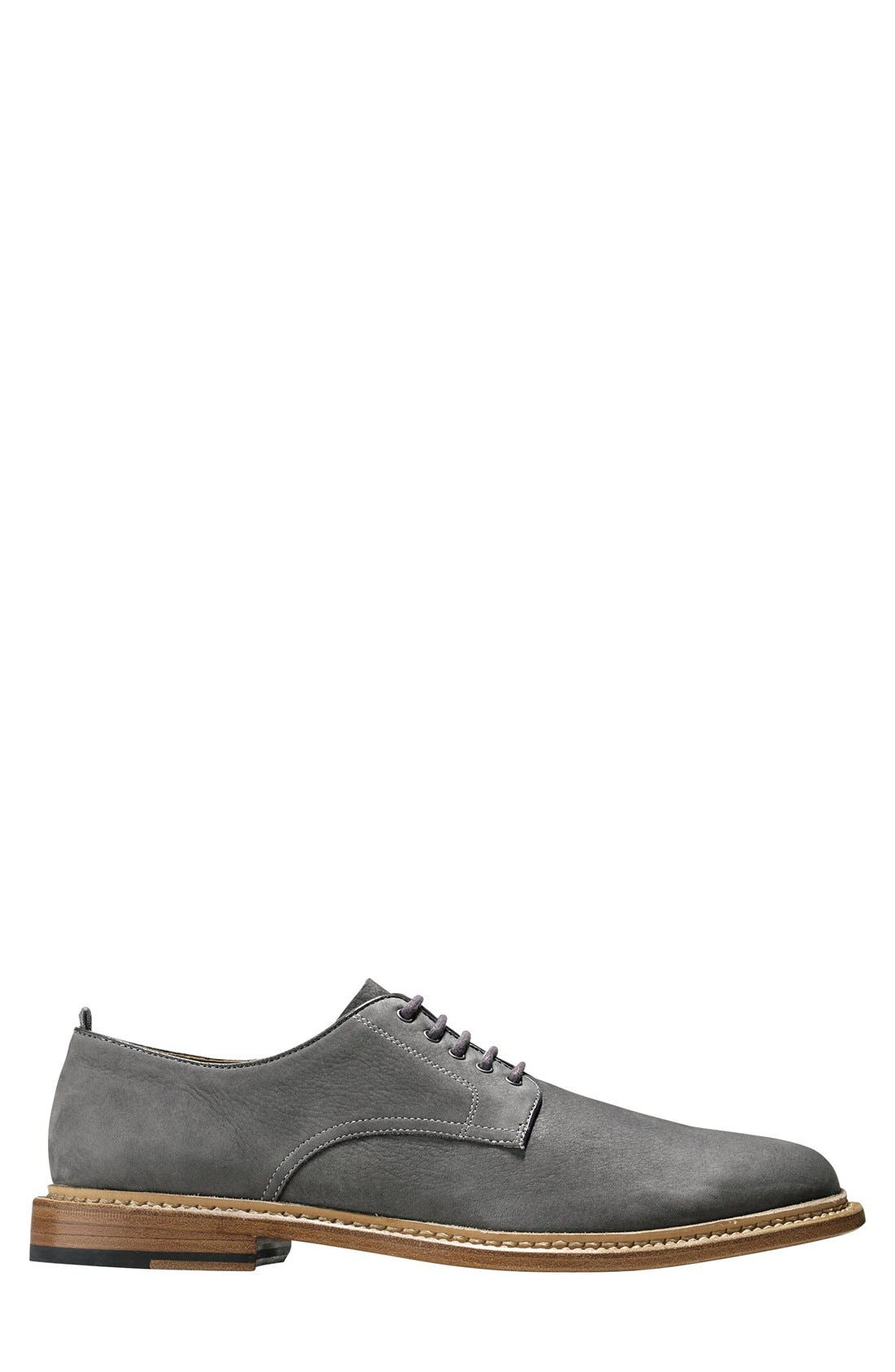 'Willet' Nubuck Plain Toe Derby,                             Alternate thumbnail 3, color,                             025