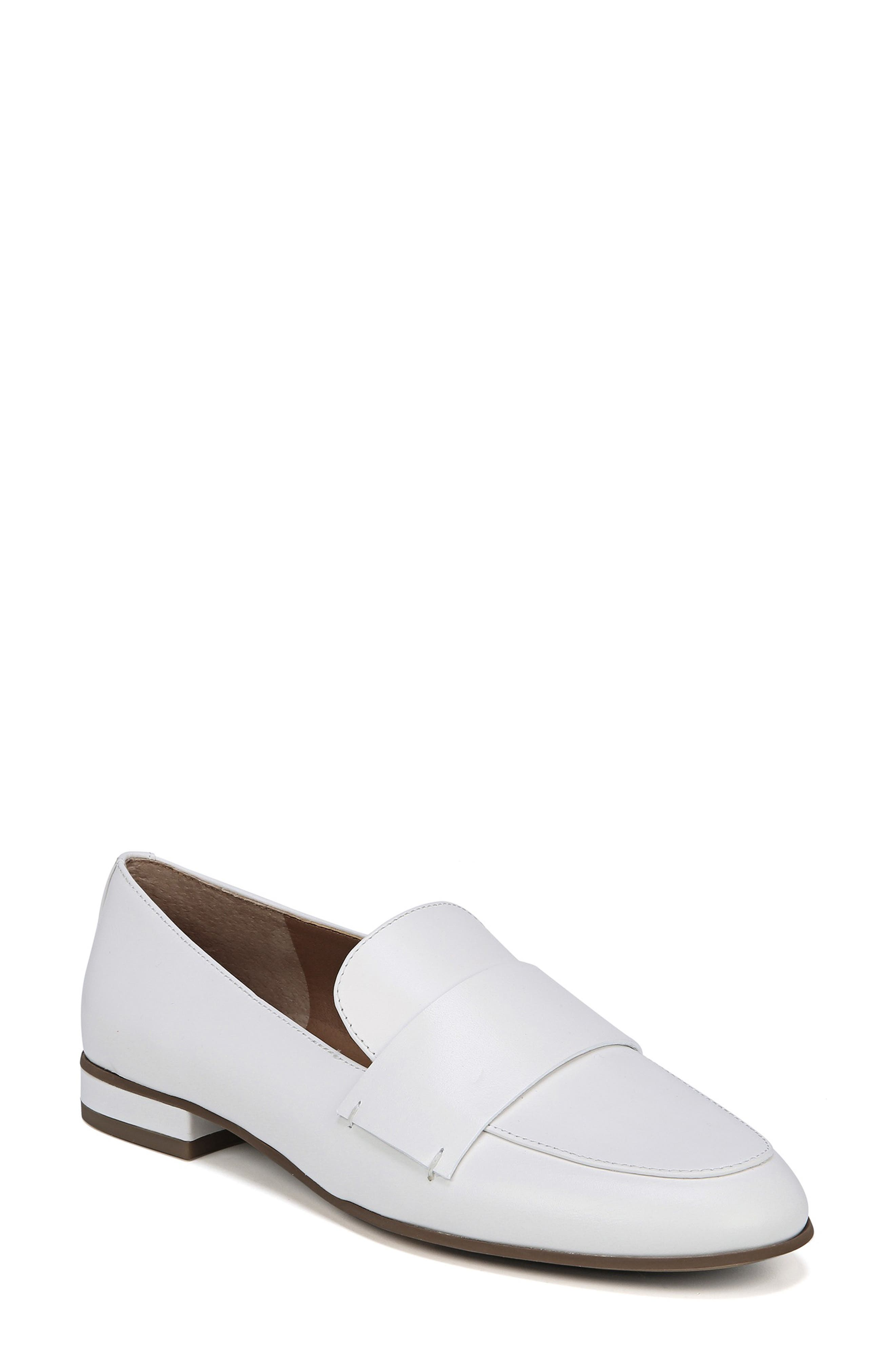 Kip Loafer,                         Main,                         color, WHITE LEATHER